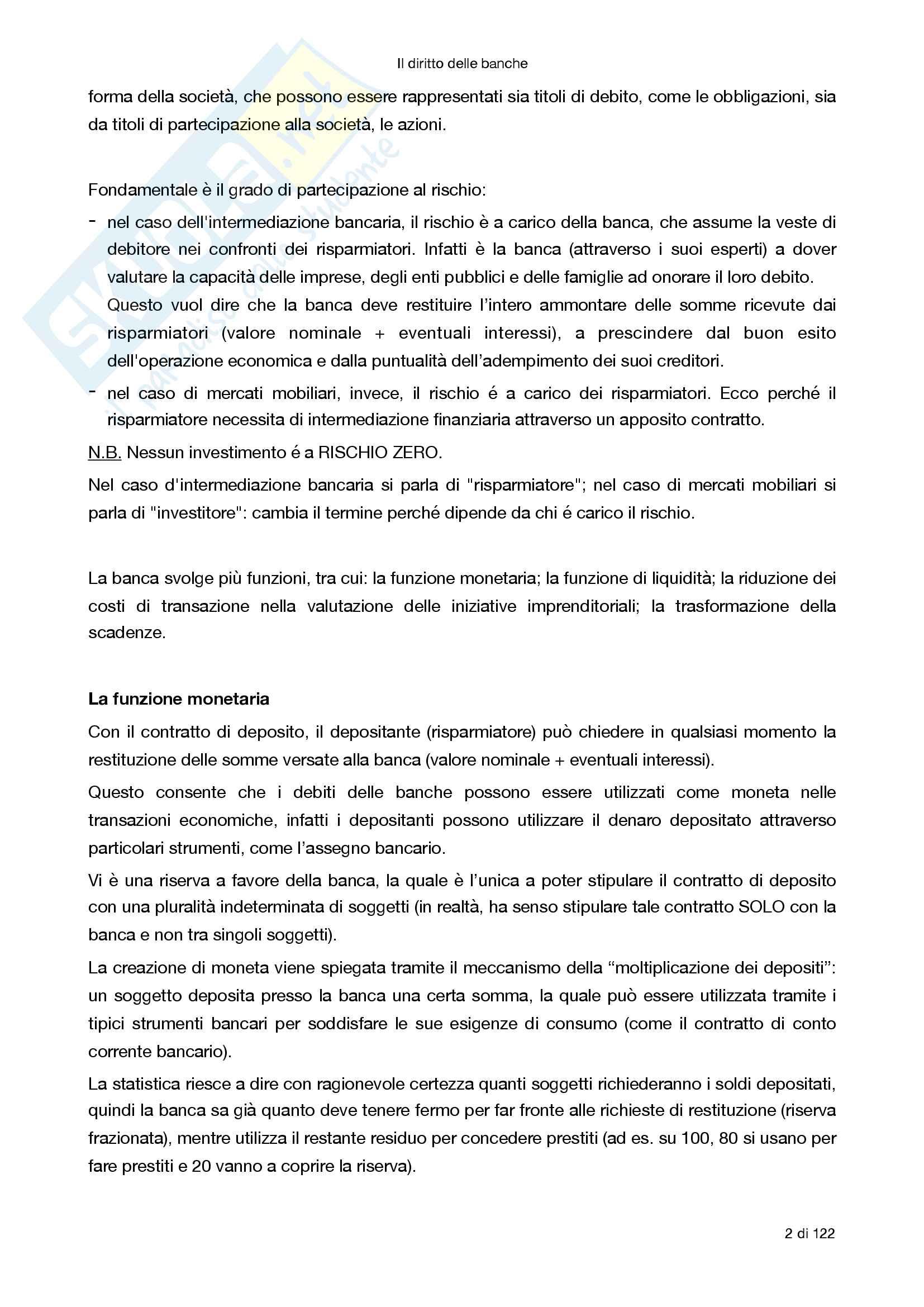 Riassunto esame Diritto degli strumenti finanziari, prof Morra, libro consigliato Il diritto delle banche, Morra Pag. 2