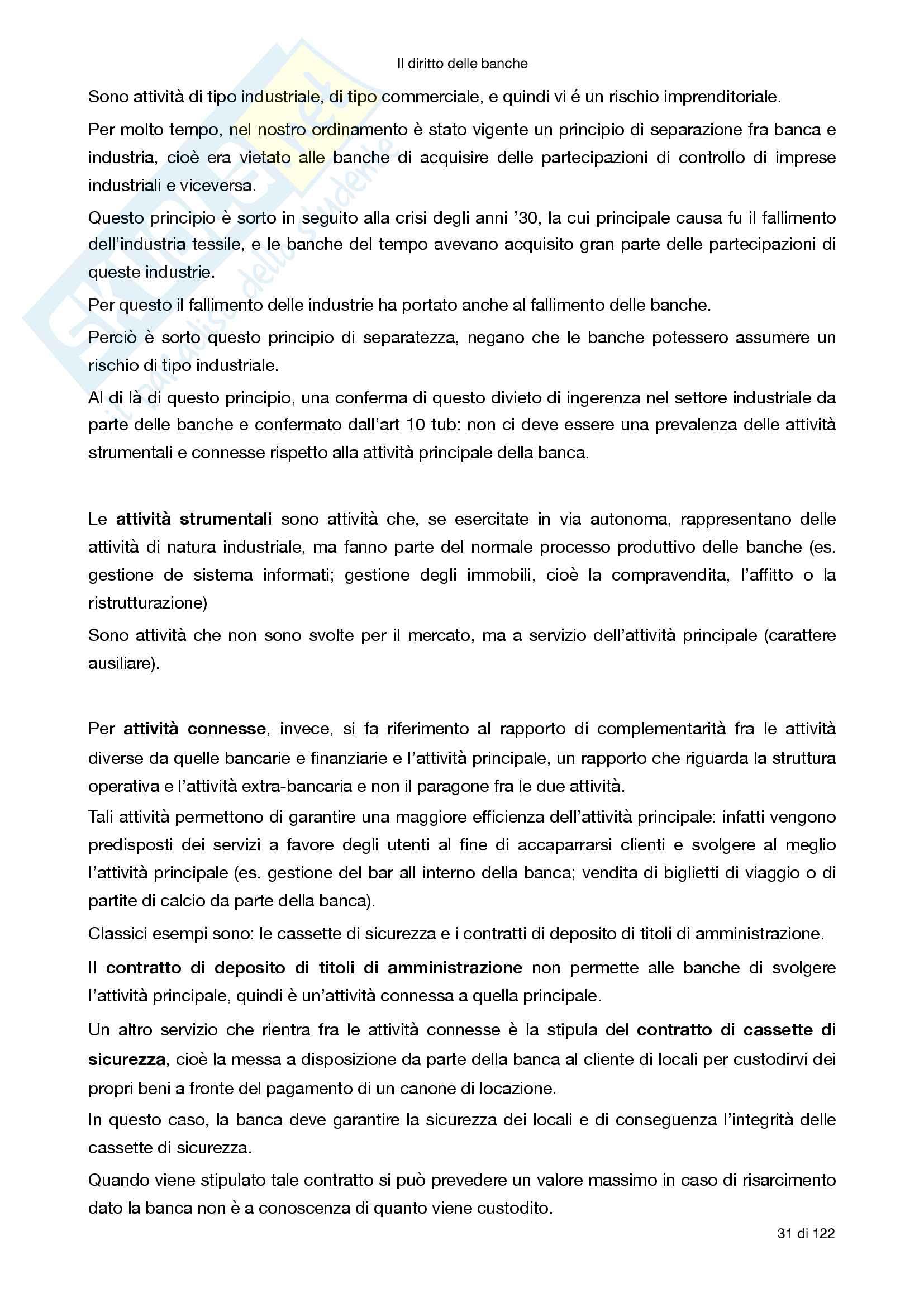 Riassunto esame Diritto degli strumenti finanziari, prof Morra, libro consigliato Il diritto delle banche, Morra Pag. 31
