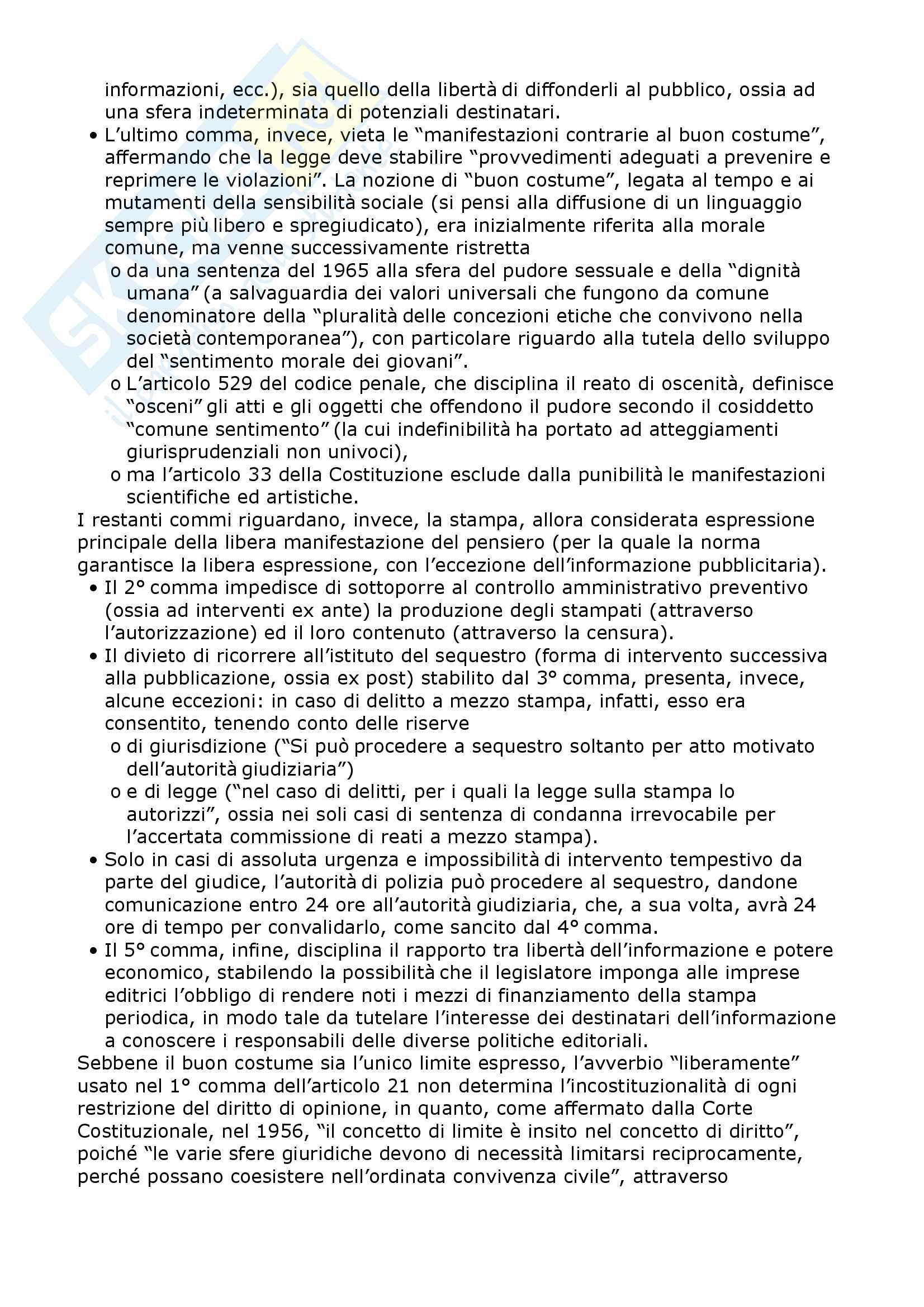 Riassunto esame Diritto dell'informazione e della comunicazione, prof. Magnani, libro consigliato Le regole dei giornalisti, Malavenda Pag. 2
