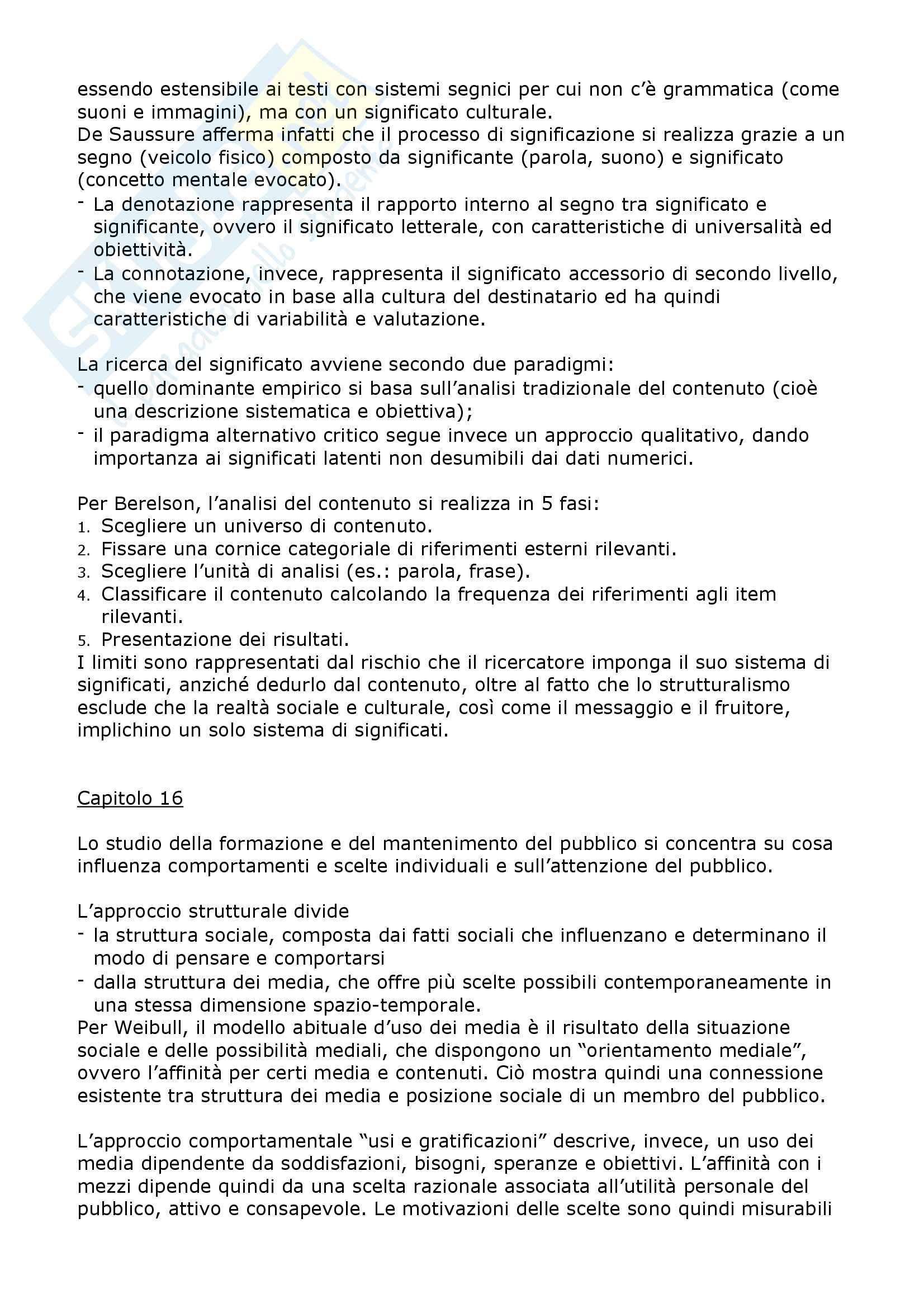 Riassunto esame Sociologia dei mass media e linguaggi del brand, prof. Valli, libro consigliato Sociologia dei media,McQuail Pag. 11