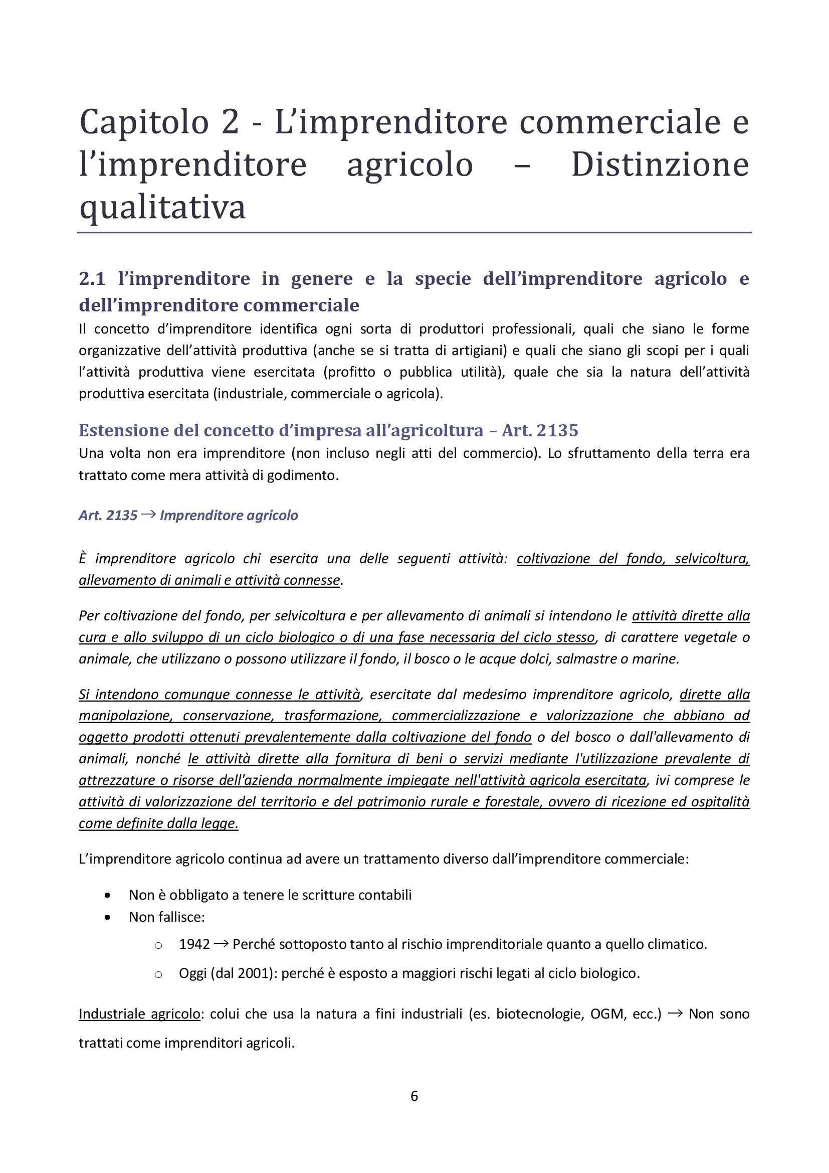 Diritto Commerciale - Imprenditore Pag. 6