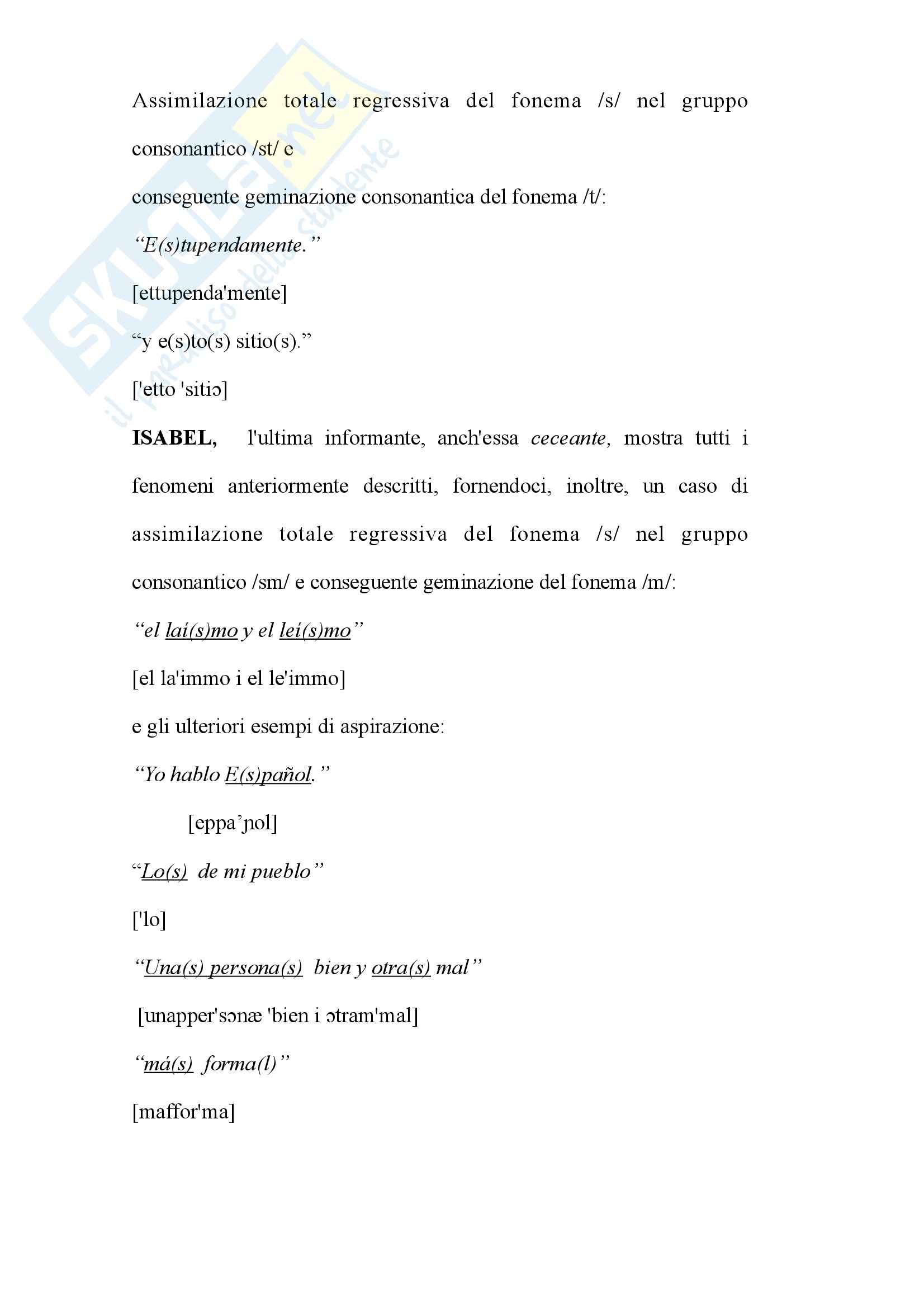 Tesi - L'aspirazione della -s implosiva nel dialetto Andaluso Pag. 26