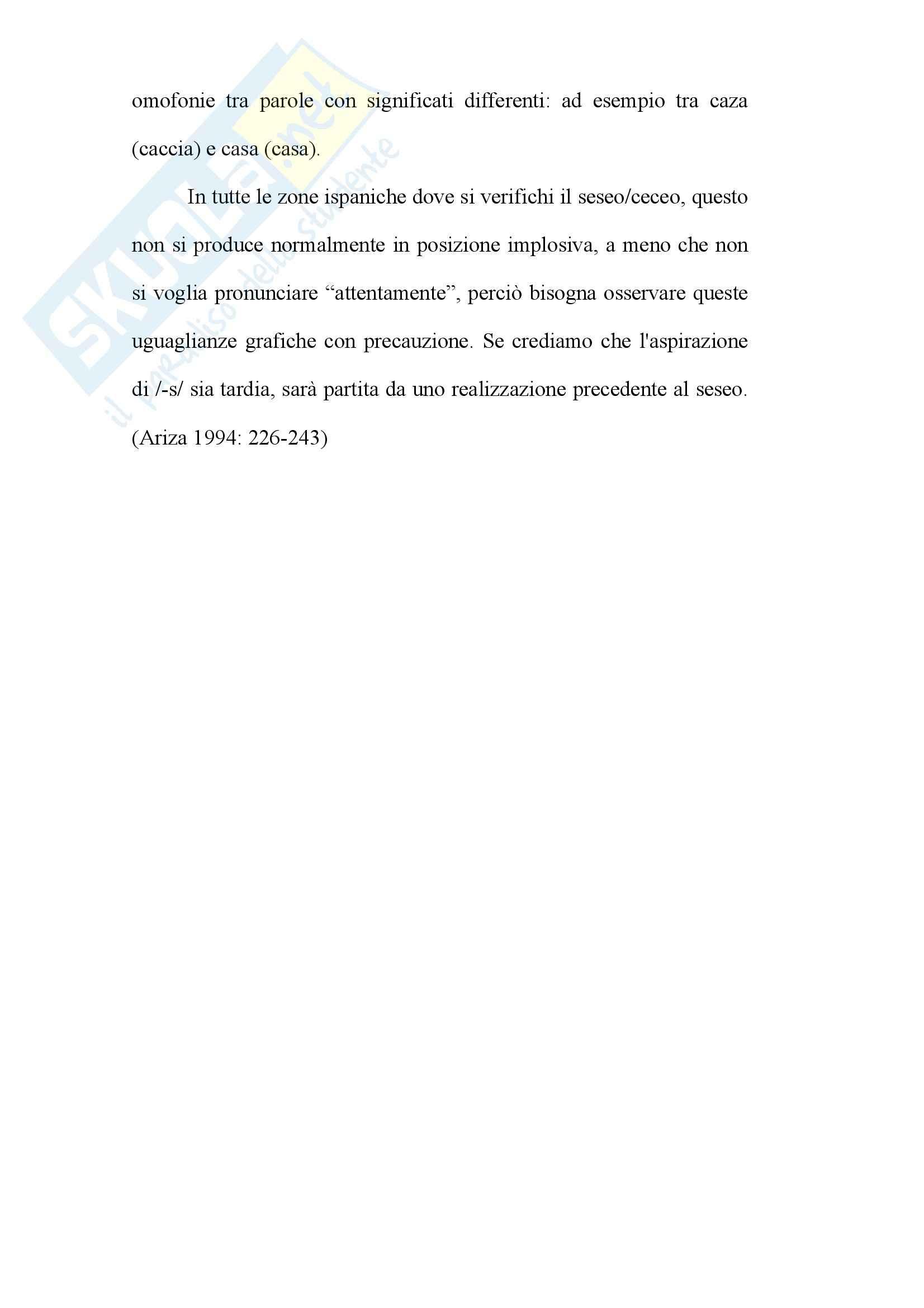 Tesi - L'aspirazione della -s implosiva nel dialetto Andaluso Pag. 6