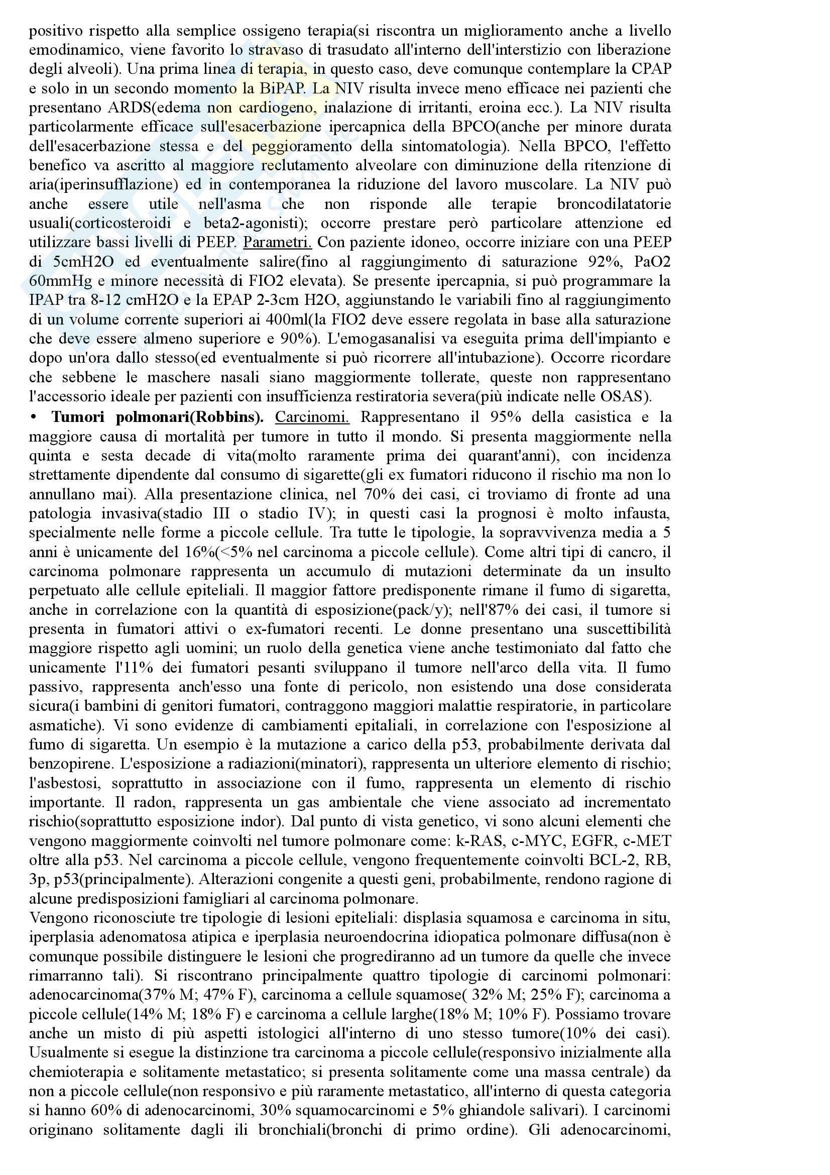 Riassunto esame Semeiotica e sistematica I, prof. Blasi, libro consigliato Prinicipi di medicina interna: Parte Pneumologia, Harrison Pag. 26