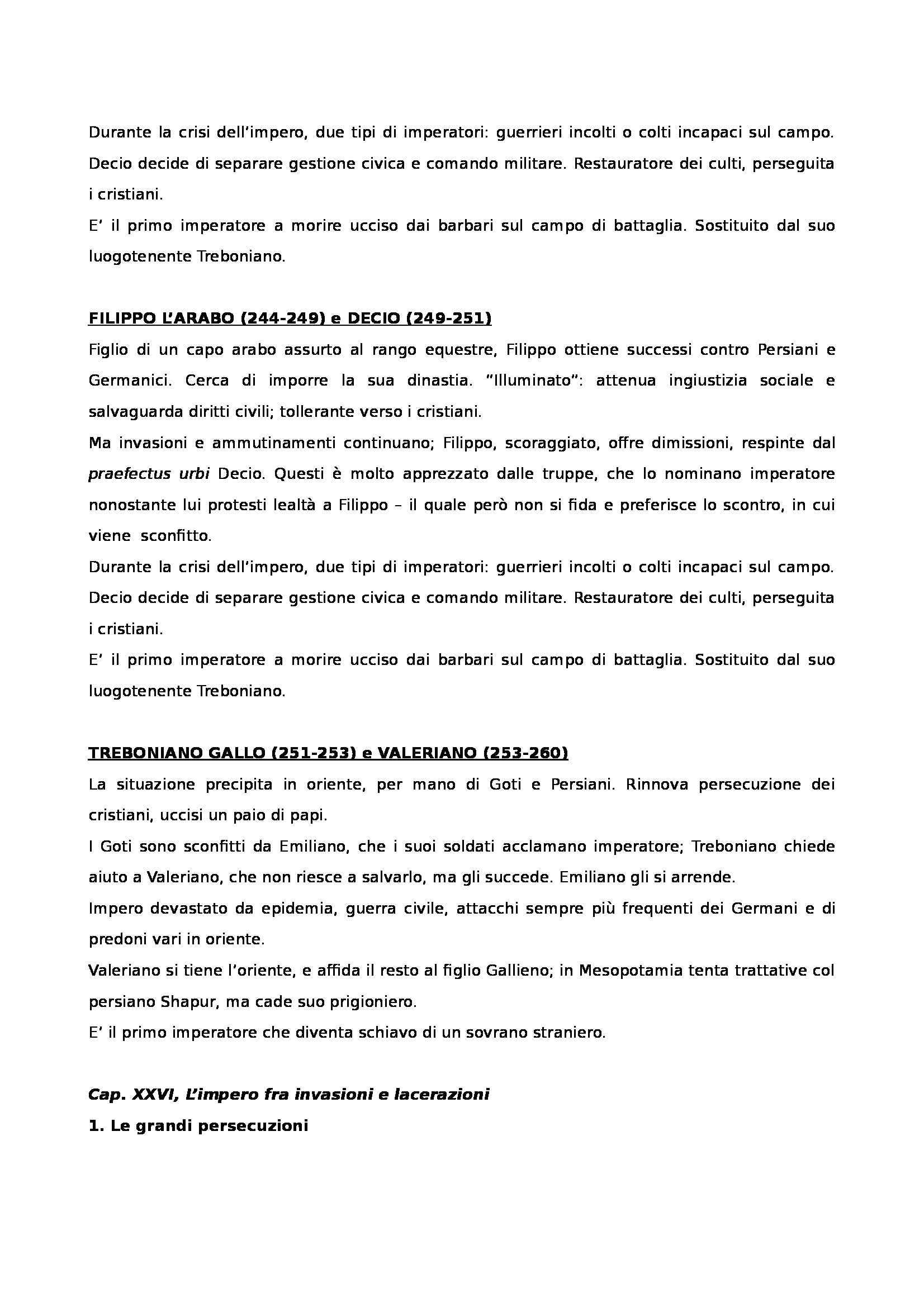 Riassunto esame Storia romana, prof. Messana, libro consigliato Manuale di storia romana, Bessone, Scuderi Pag. 41