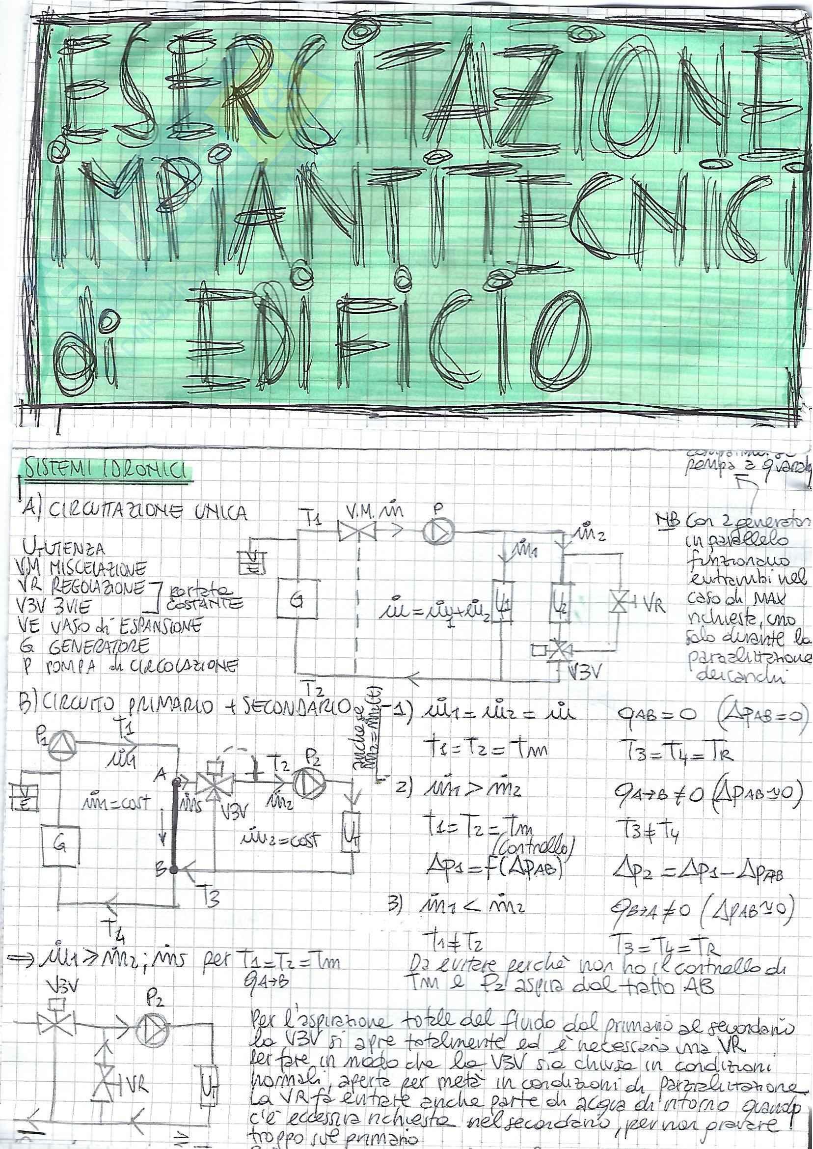 Impianti Tecnici di Edificio - Esercizi
