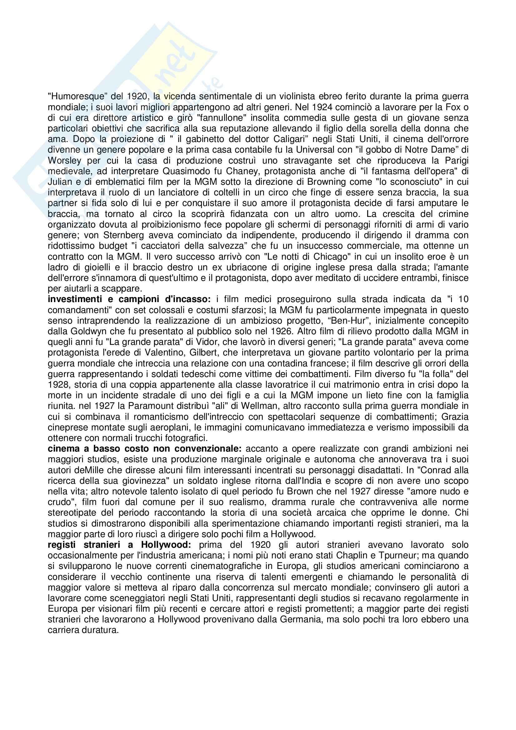 Riassunto esame Storia e critica del cinema, prof. Villa, libro consigliato Storia del cinema e dei film, Bordwell, Thompson Pag. 16
