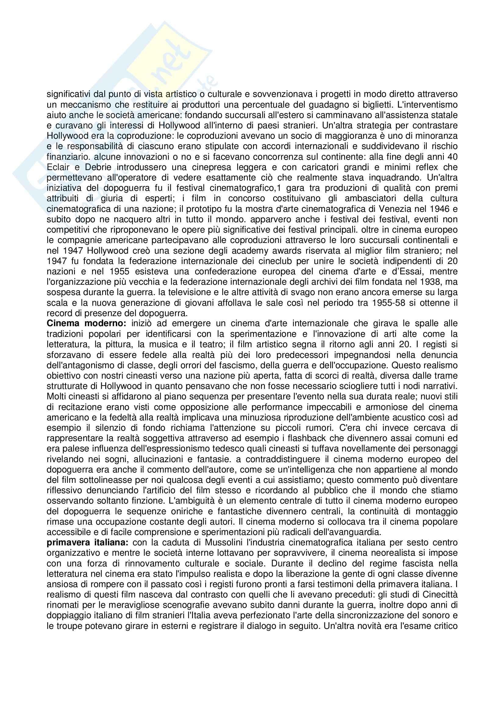 Riassunto esame Storia e critica del cinema, prof. Villa, libro consigliato Storia del cinema e dei film, Bordwell, Thompson Pag. 46