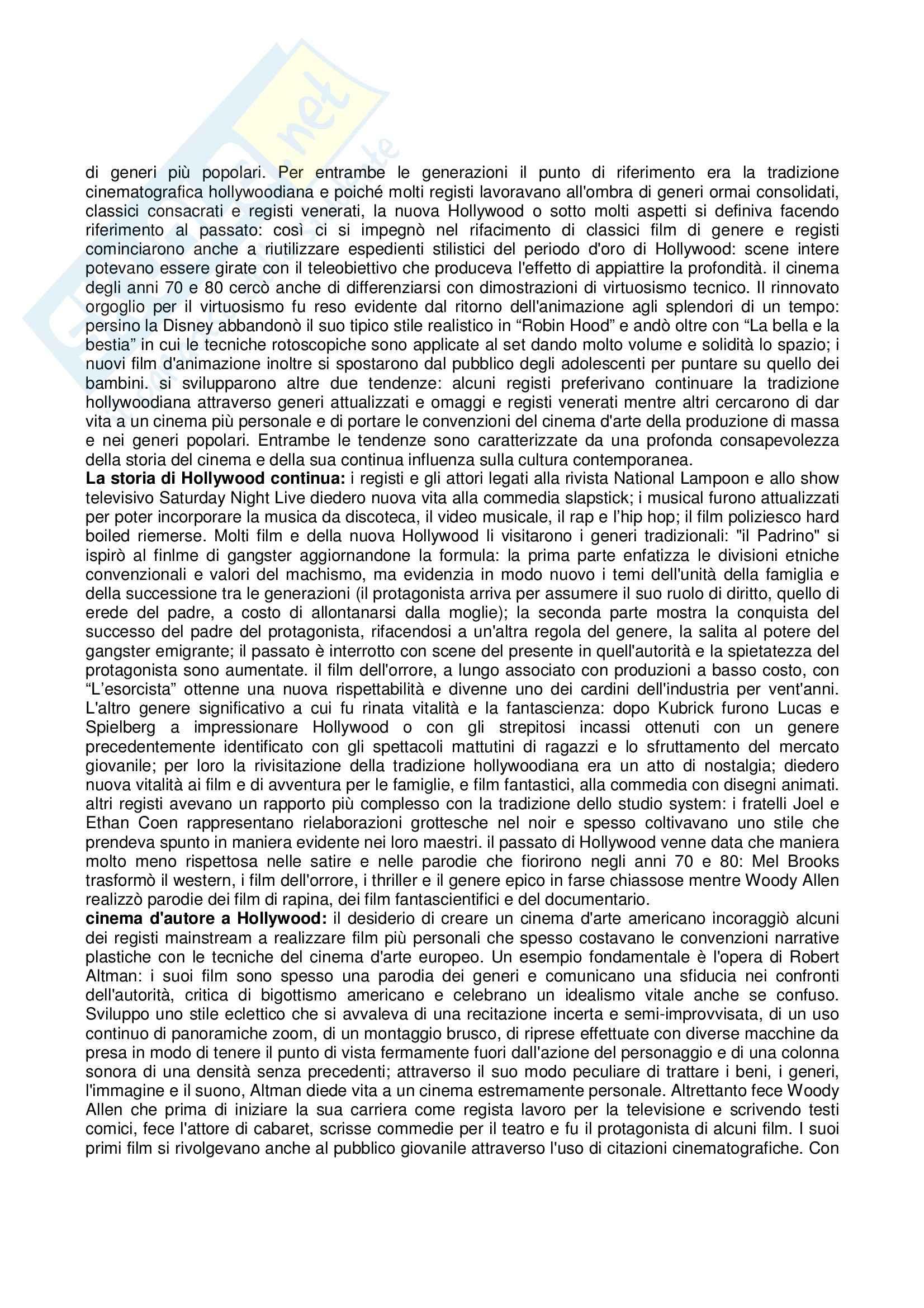 Riassunto esame Storia e critica del cinema, prof. Villa, libro consigliato Storia del cinema e dei film, Bordwell, Thompson Pag. 71