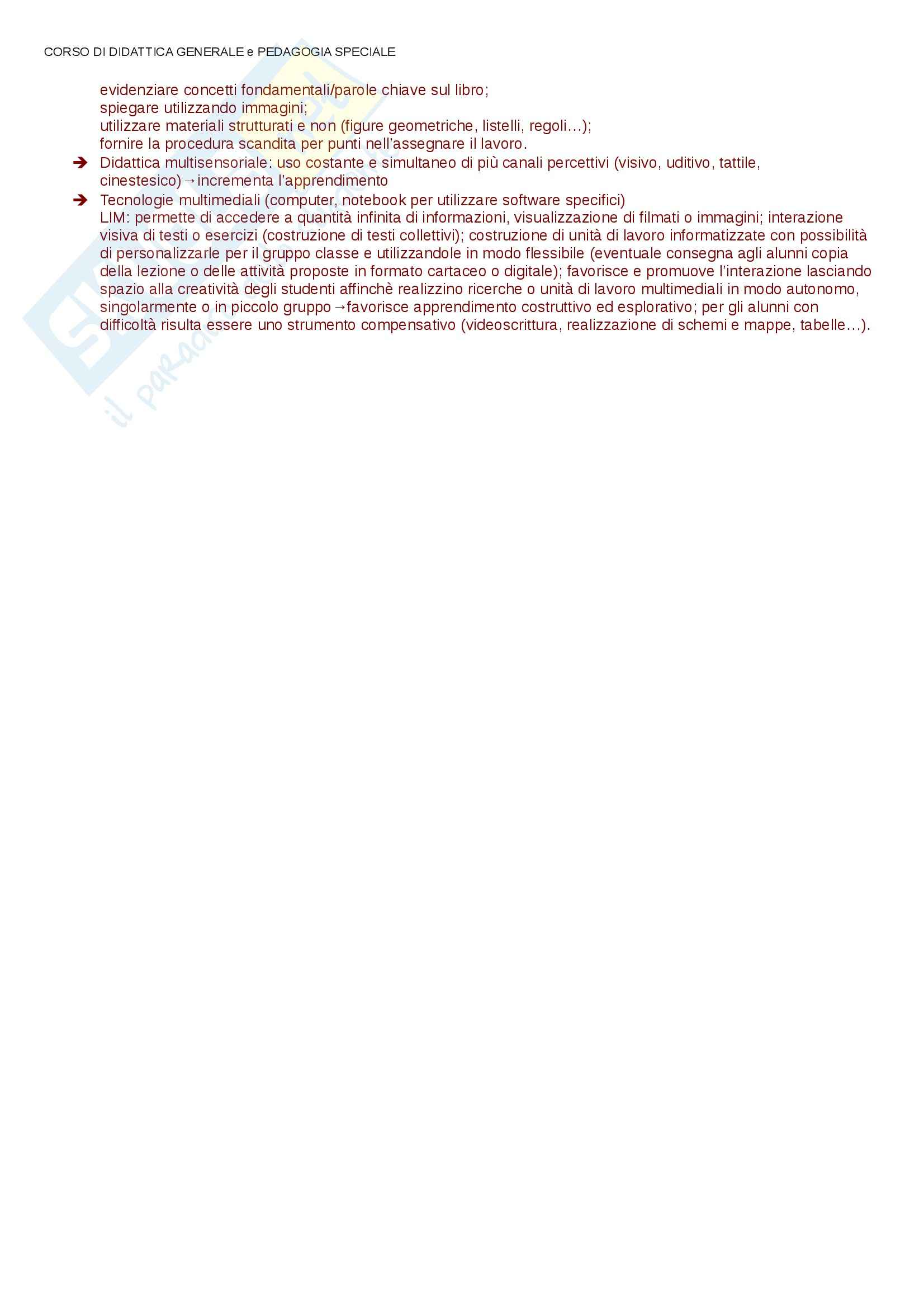 Lezioni, approfondimenti, Didattica e Pedagogia Speciale Pag. 111