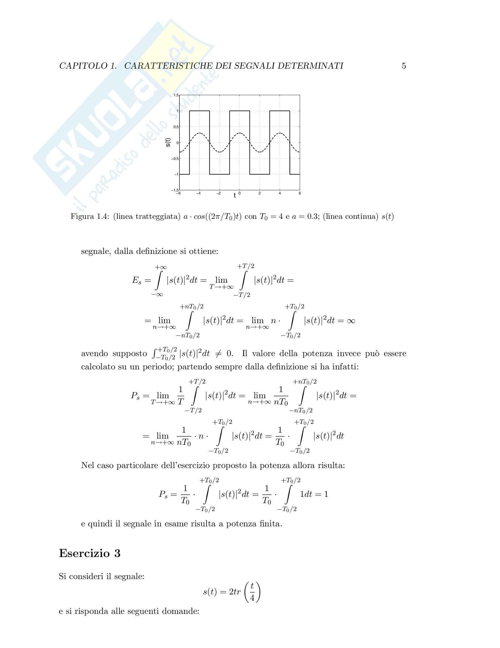 Teoria dei segnali - esercizi svolti Pag. 11
