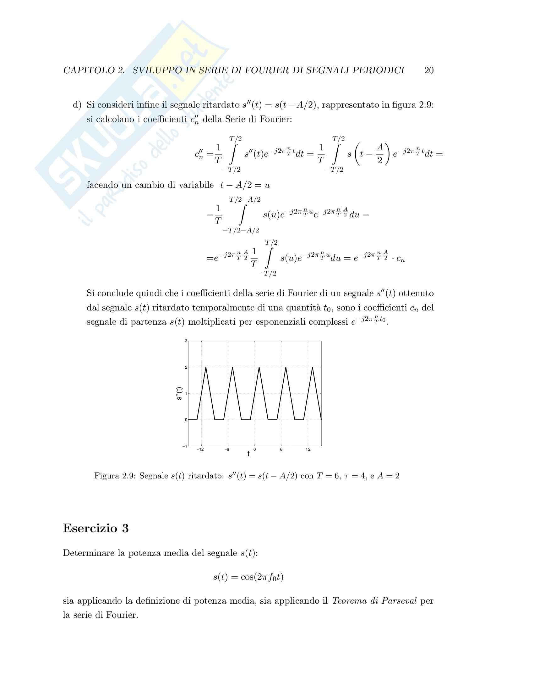Teoria dei segnali - esercizi svolti Pag. 26
