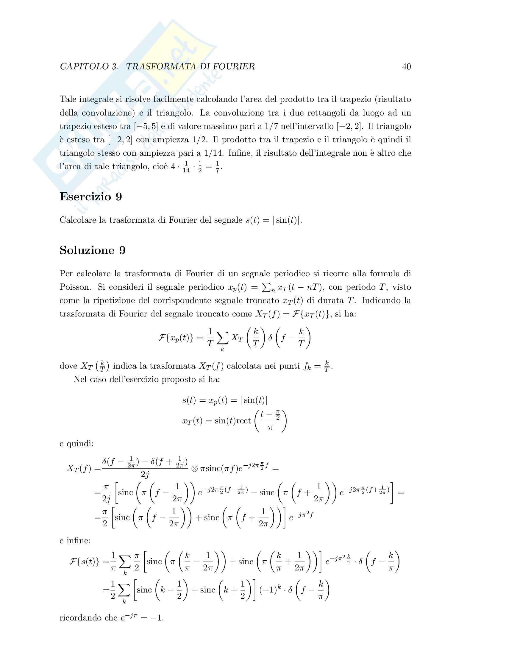 Teoria dei segnali - esercizi svolti Pag. 46