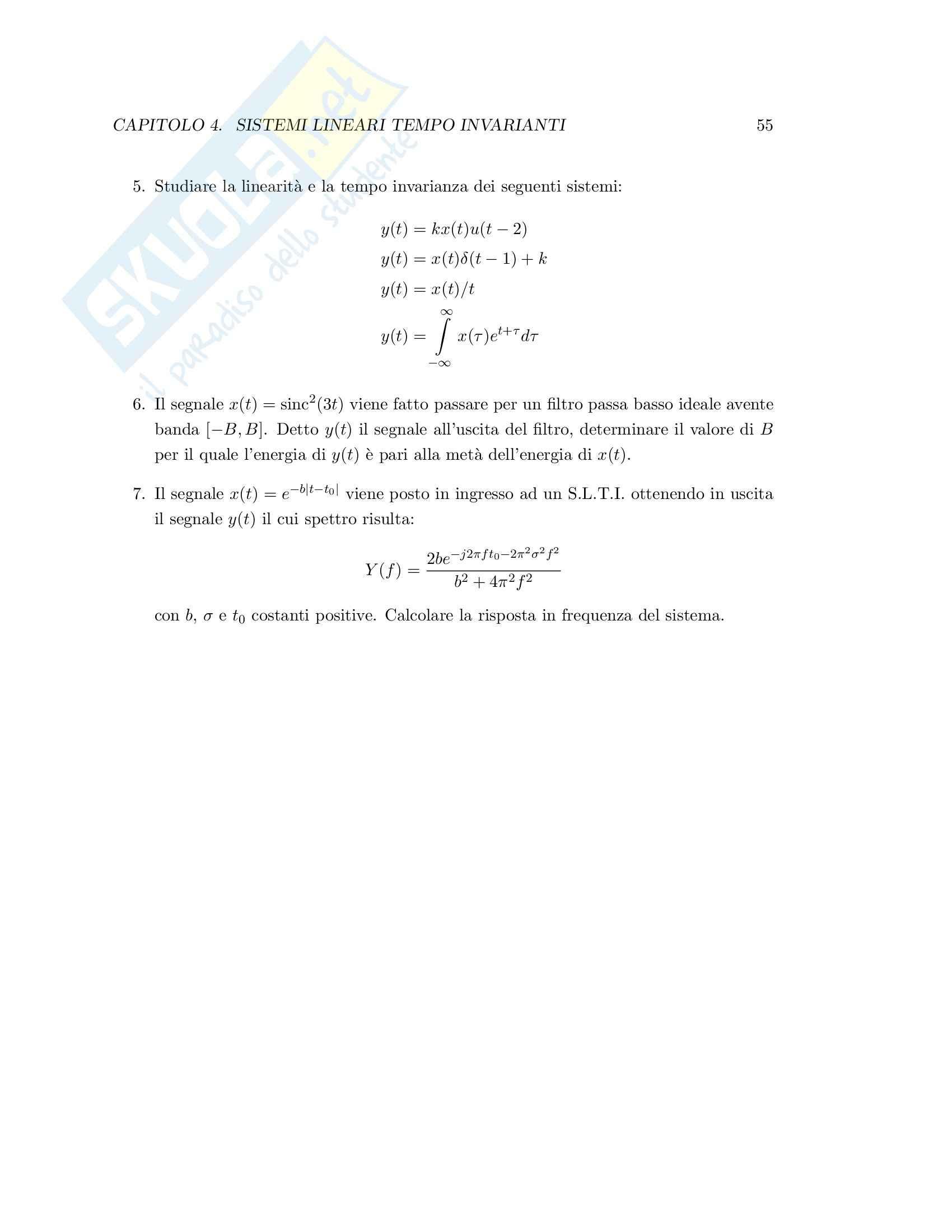 Teoria dei segnali - esercizi svolti Pag. 61