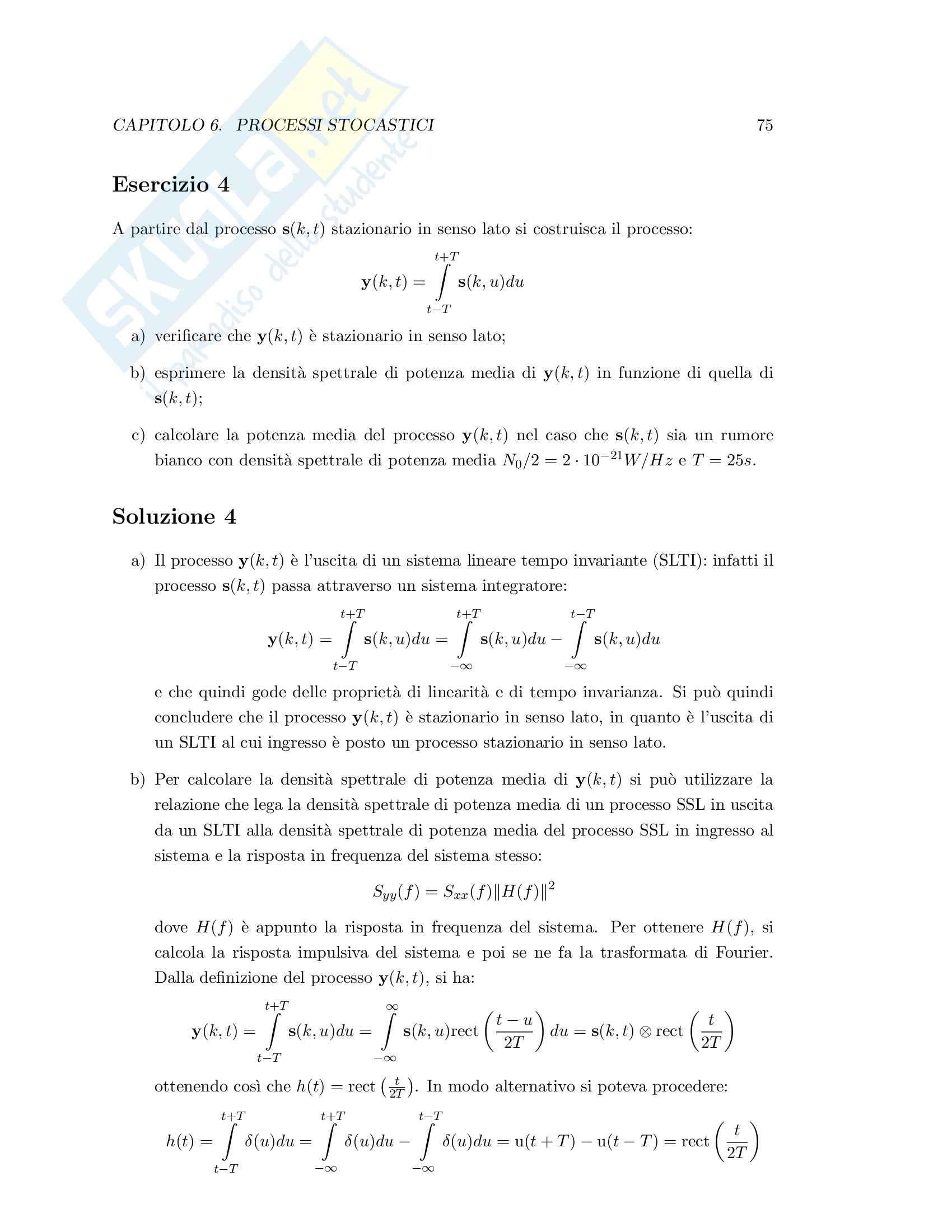 Teoria dei segnali - esercizi svolti Pag. 81