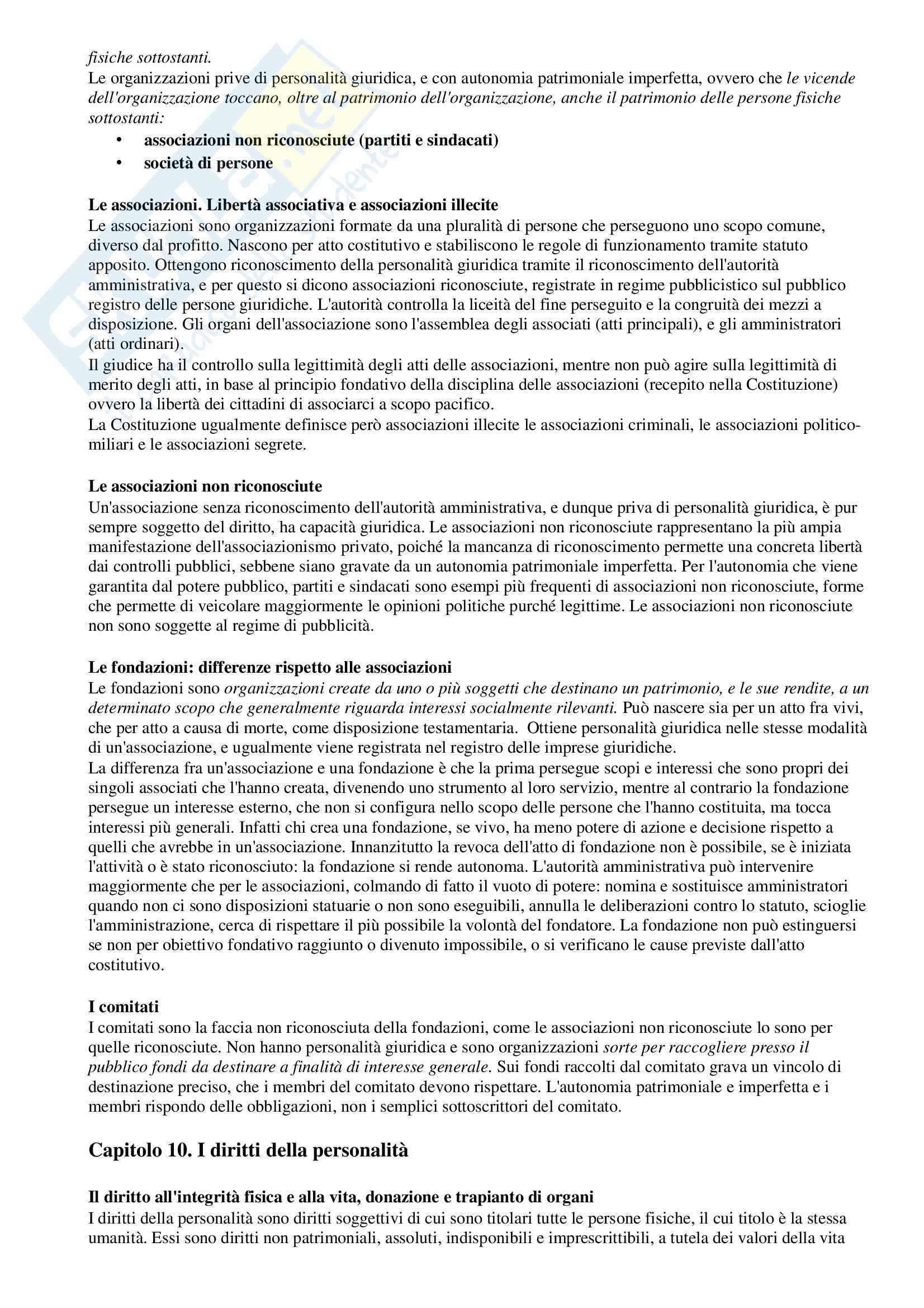 Riassunto esame Istituzioni di Diritto Privato, prof. Cuffaro, libro consigliato Diritto Privato - linee essenziali, Roppo Pag. 16