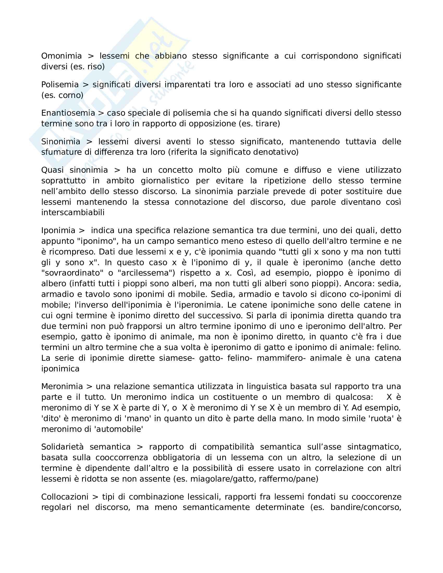 Riassunto esame linguistica italiana, prof. Corino, libro consigliato Manuale di linguistica italiana Pag. 31