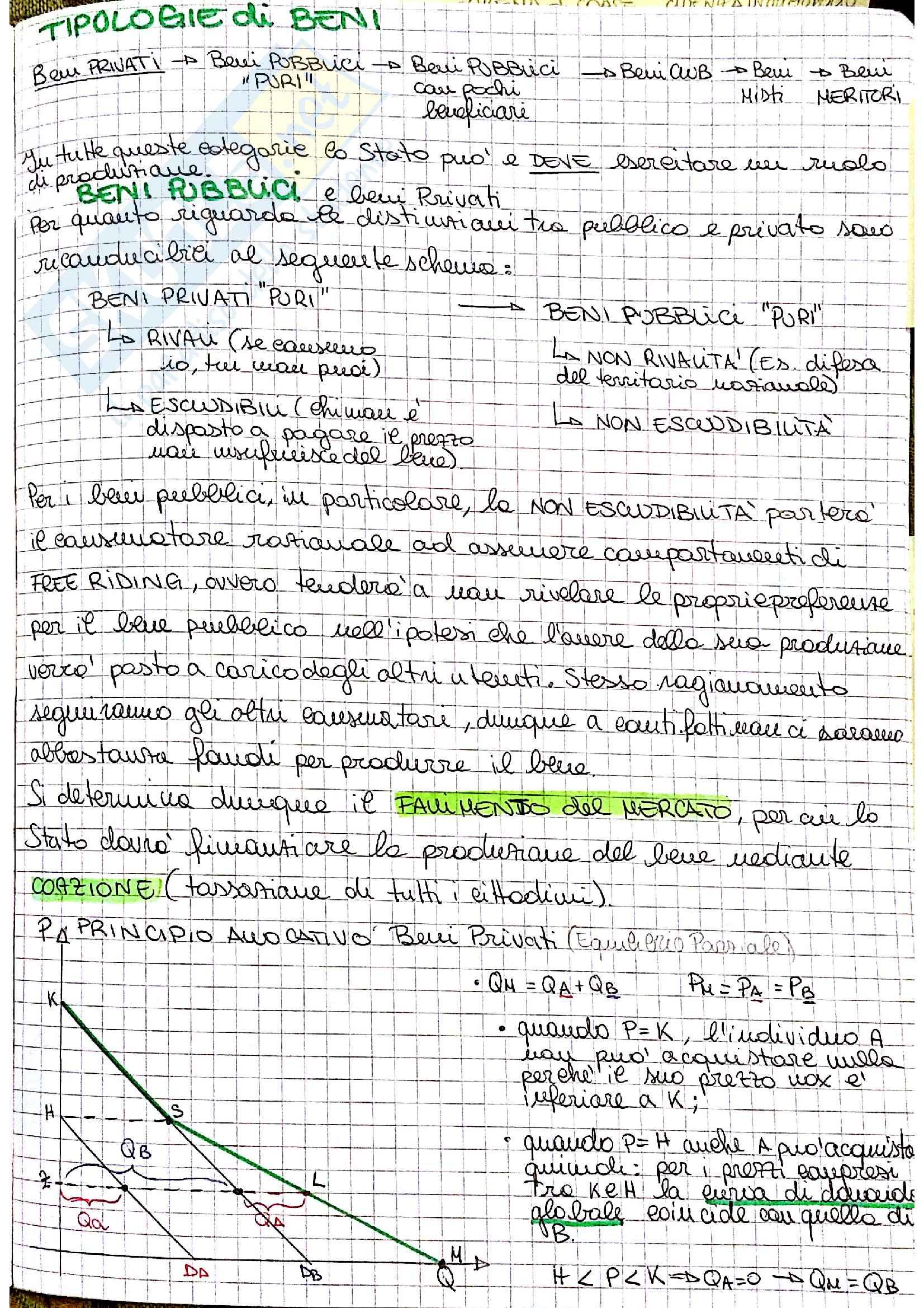 Appunti di Scienza delle Finanze