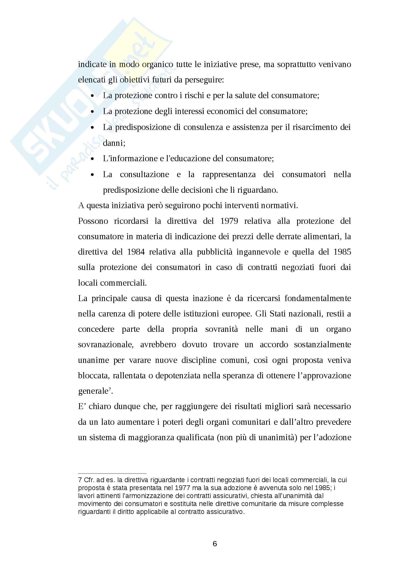 Diritto privato - consumerism Pag. 6