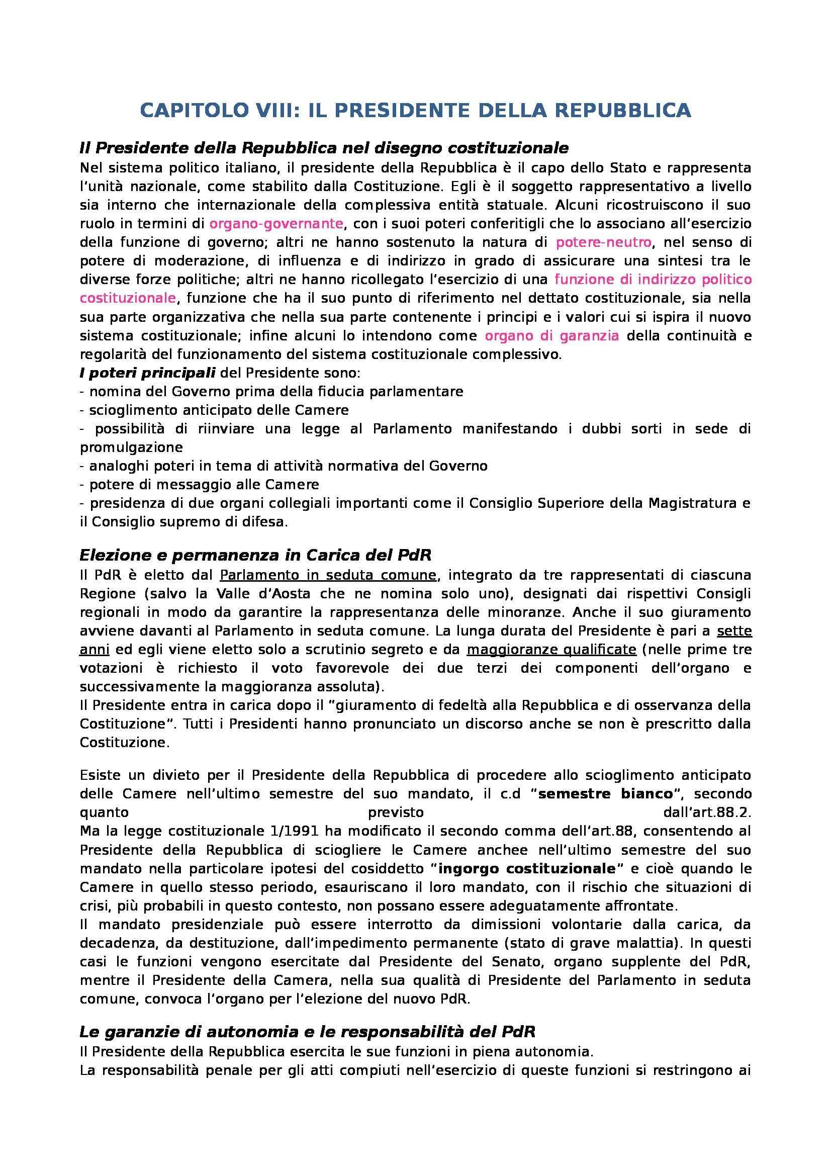 appunto F. Pizzetti Istituzioni di diritto pubblico