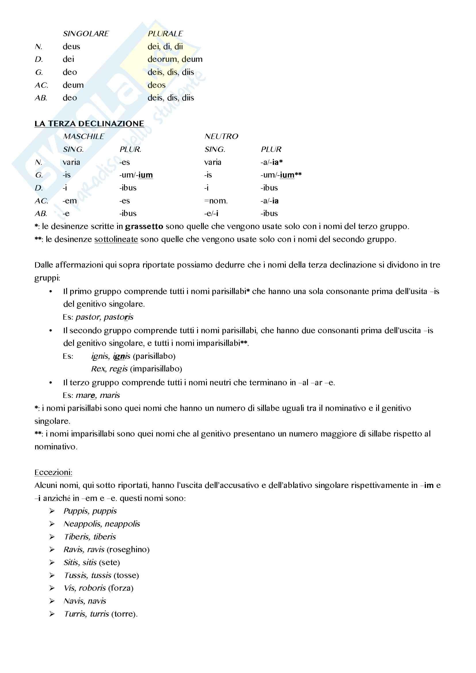 Latino di base - Appunti Pag. 2
