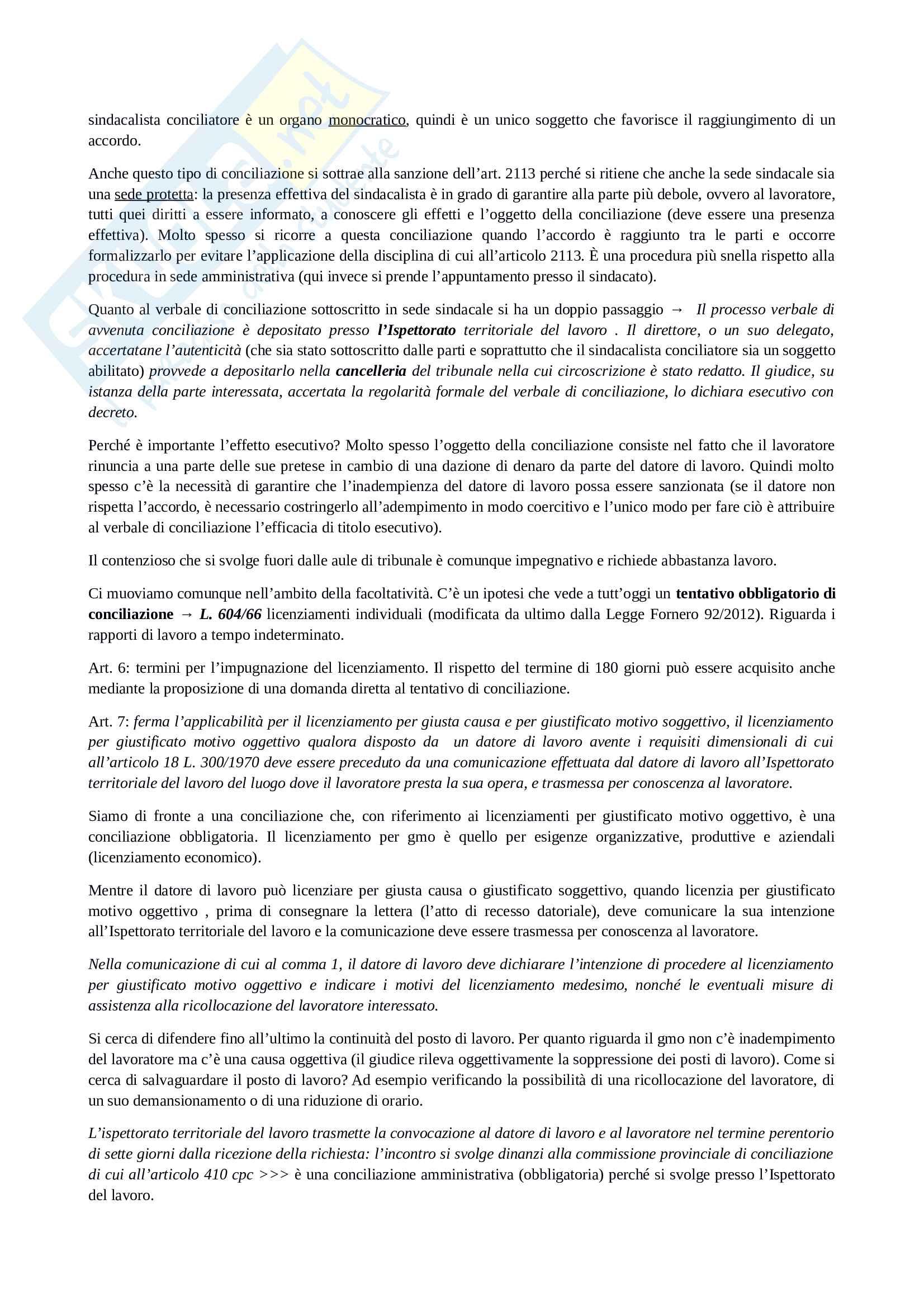 Diritto processuale del lavoro Pag. 36