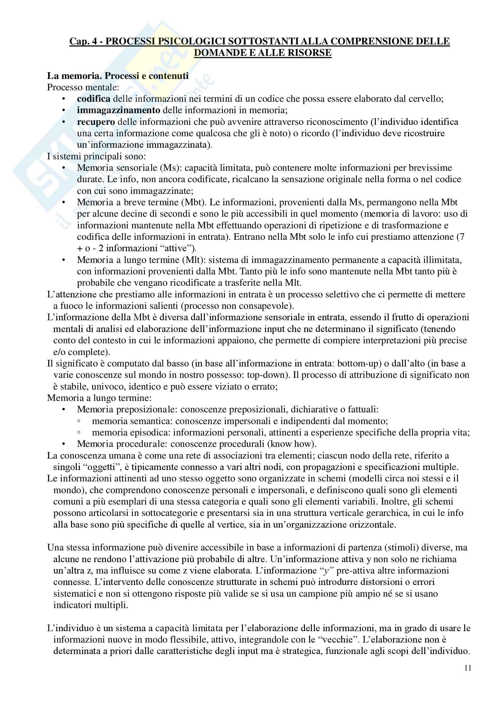 Riassunto esame Tecniche dell'intervista e del questionario, prof. Zammuner Pag. 11