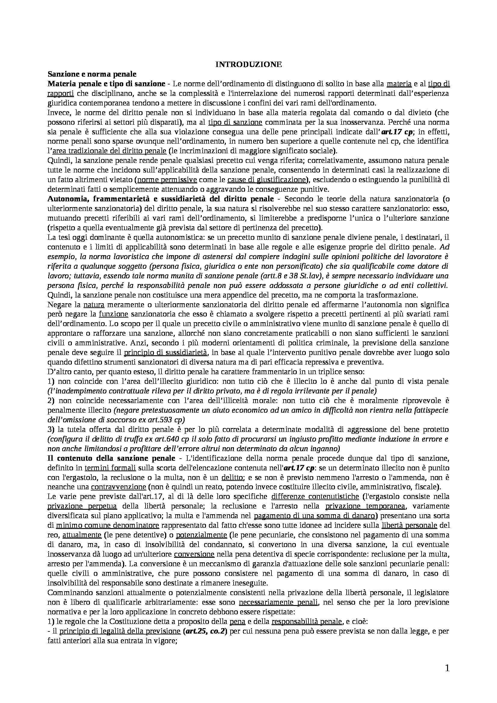 Riassunto esame Diritto Penale, prof. Assumma, libro consigliato Diritto Penale di Padovani