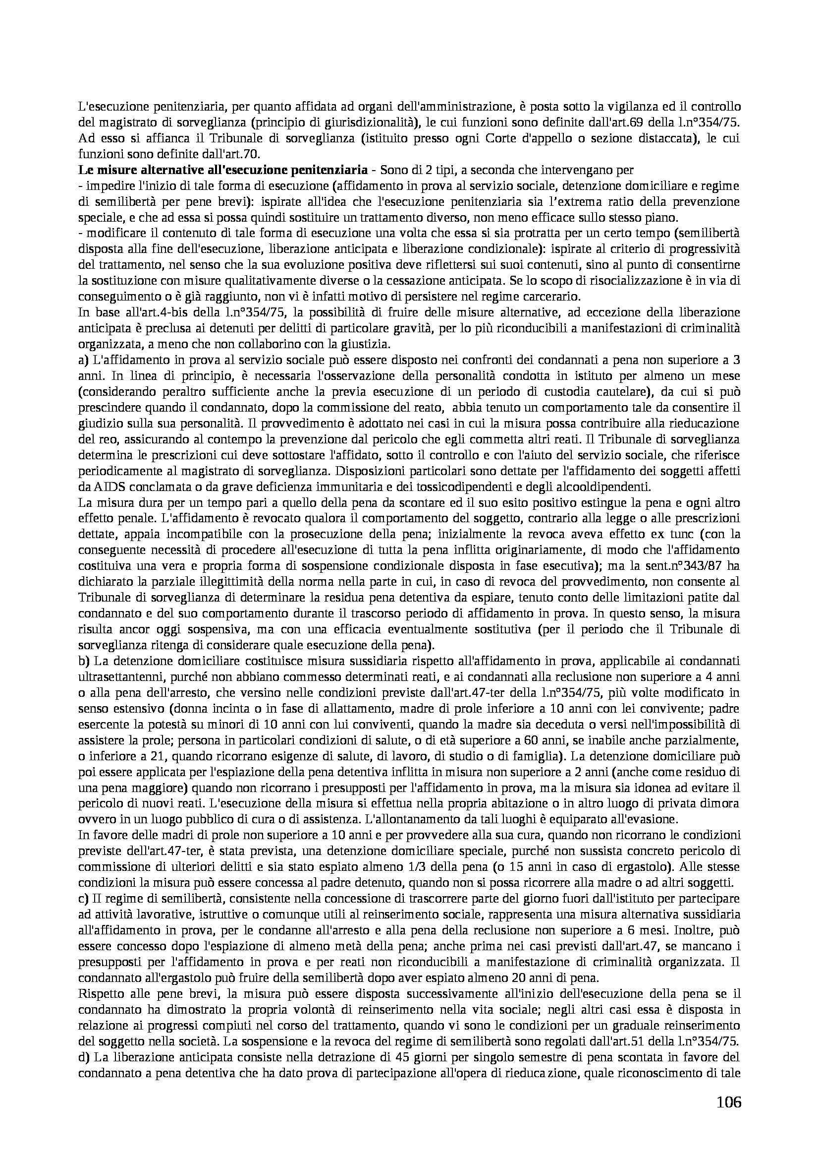 Riassunto esame Diritto Penale, prof. Assumma, libro consigliato Diritto Penale di Padovani Pag. 106