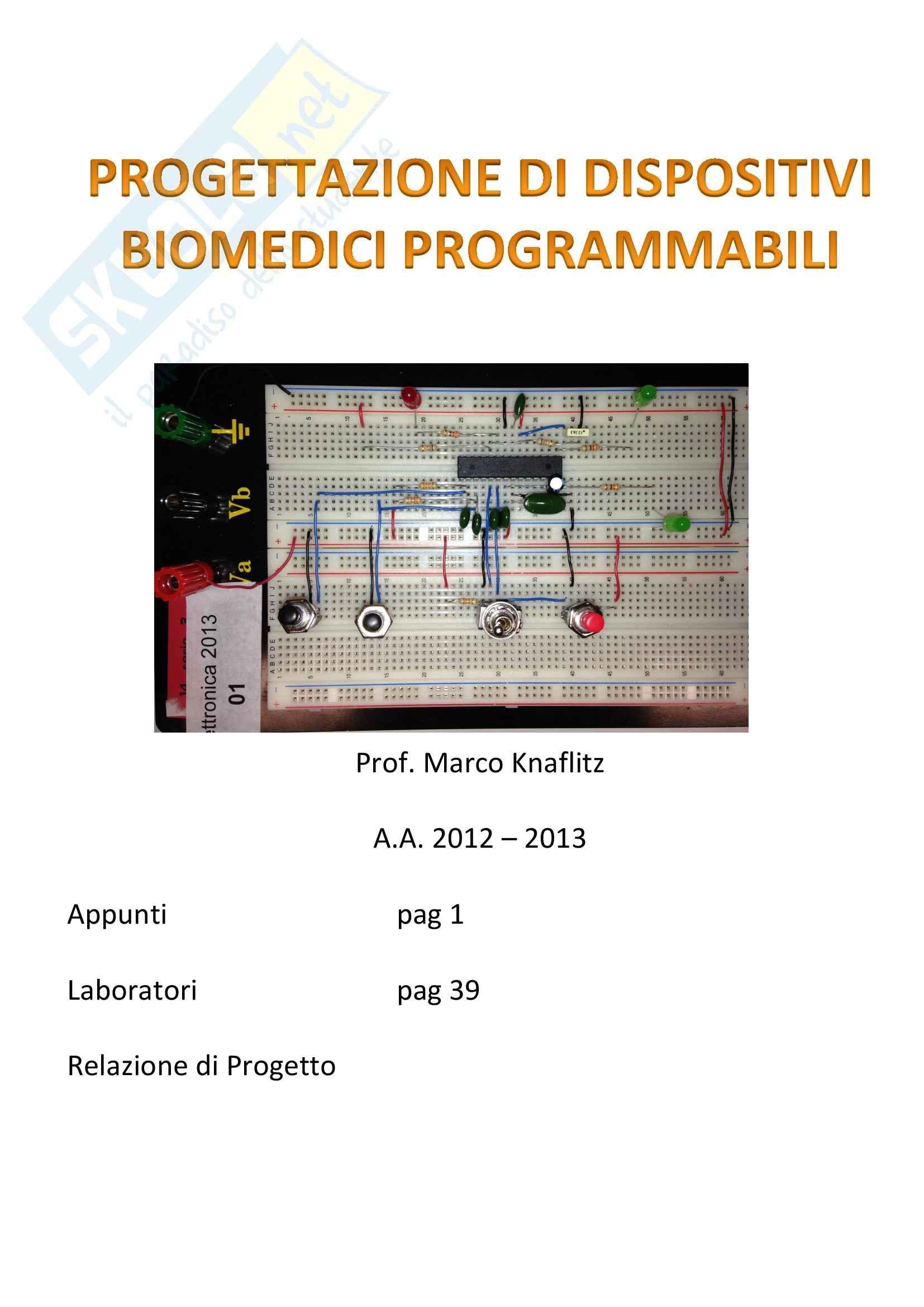 Progettazione di Dispositivi Biomedici Programmabili - Appunti