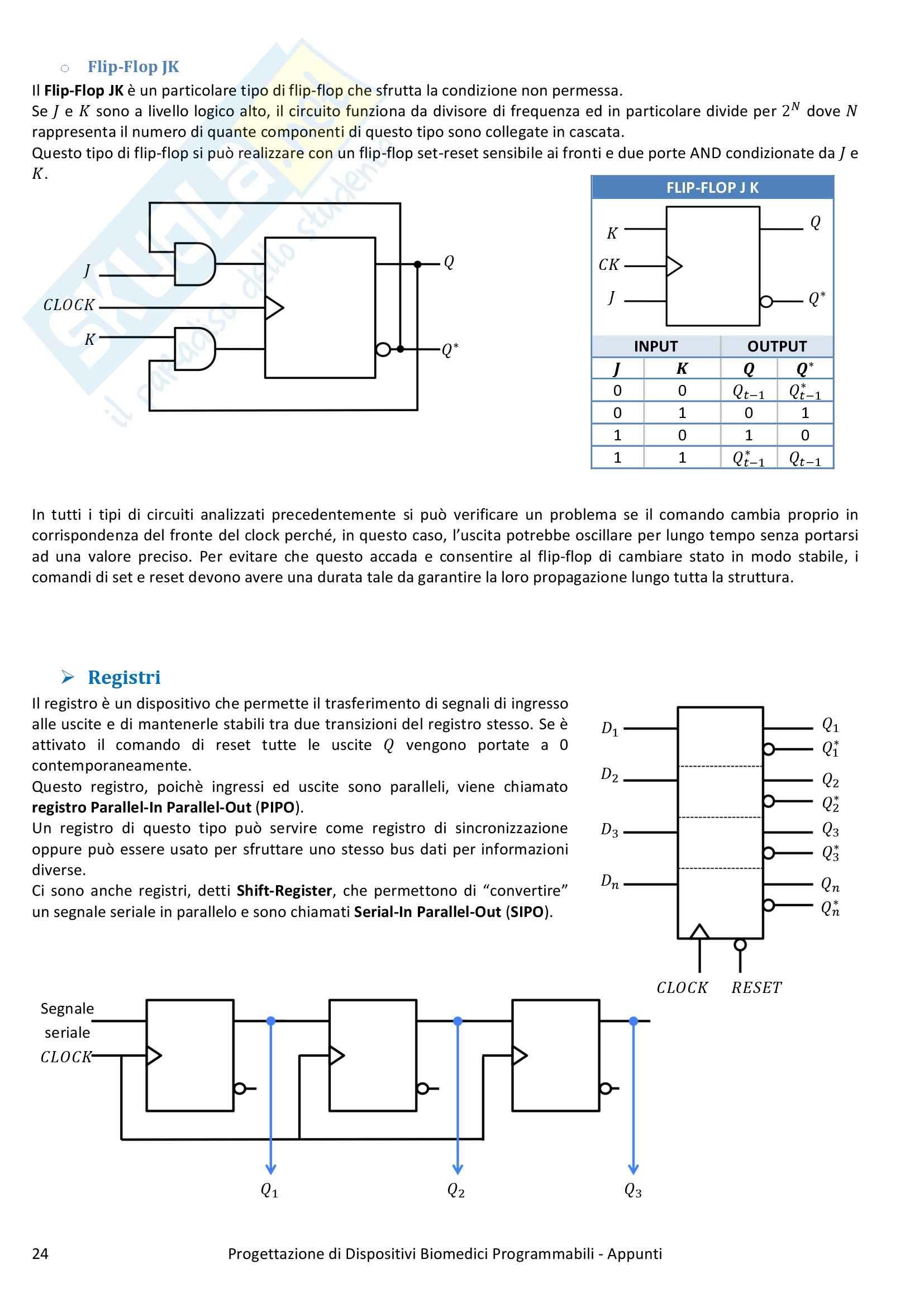 Progettazione di Dispositivi Biomedici Programmabili - Appunti Pag. 26
