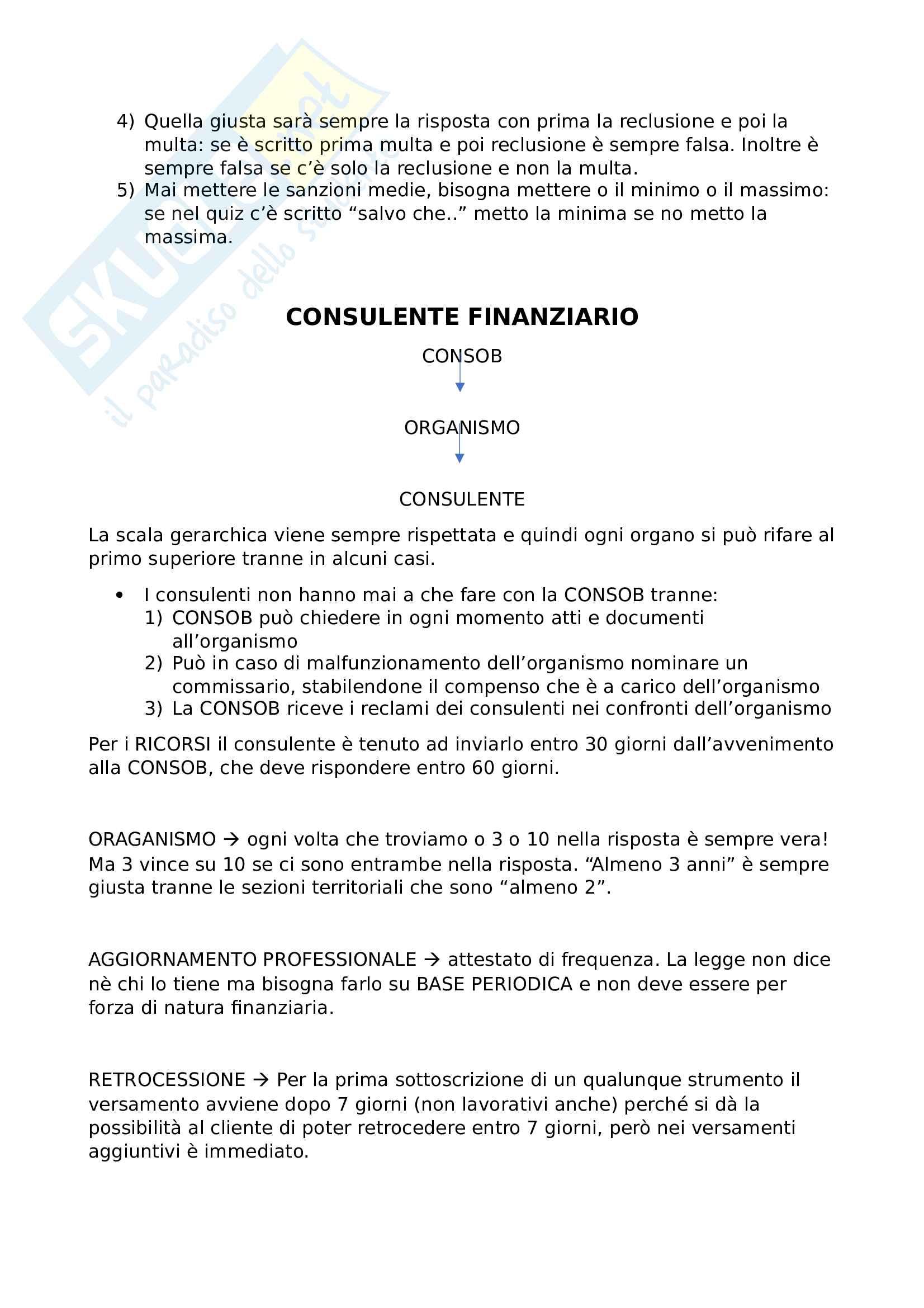 Preparazione esame organismo consulenti finanziari, consulenti finanziari abilitati all'offerta fuori sede Pag. 6