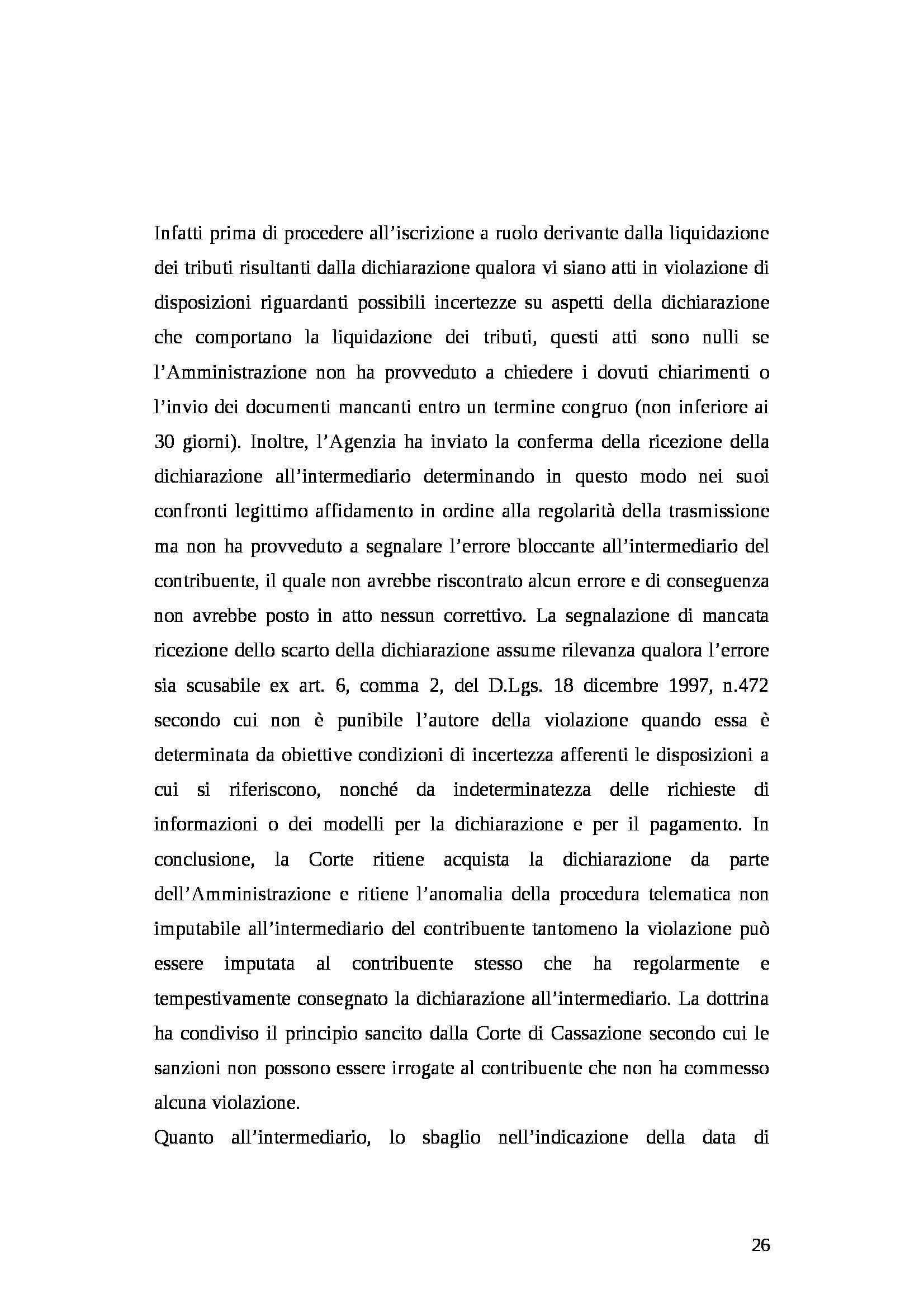 Tesi - Dichiarazione dei redditi Pag. 26