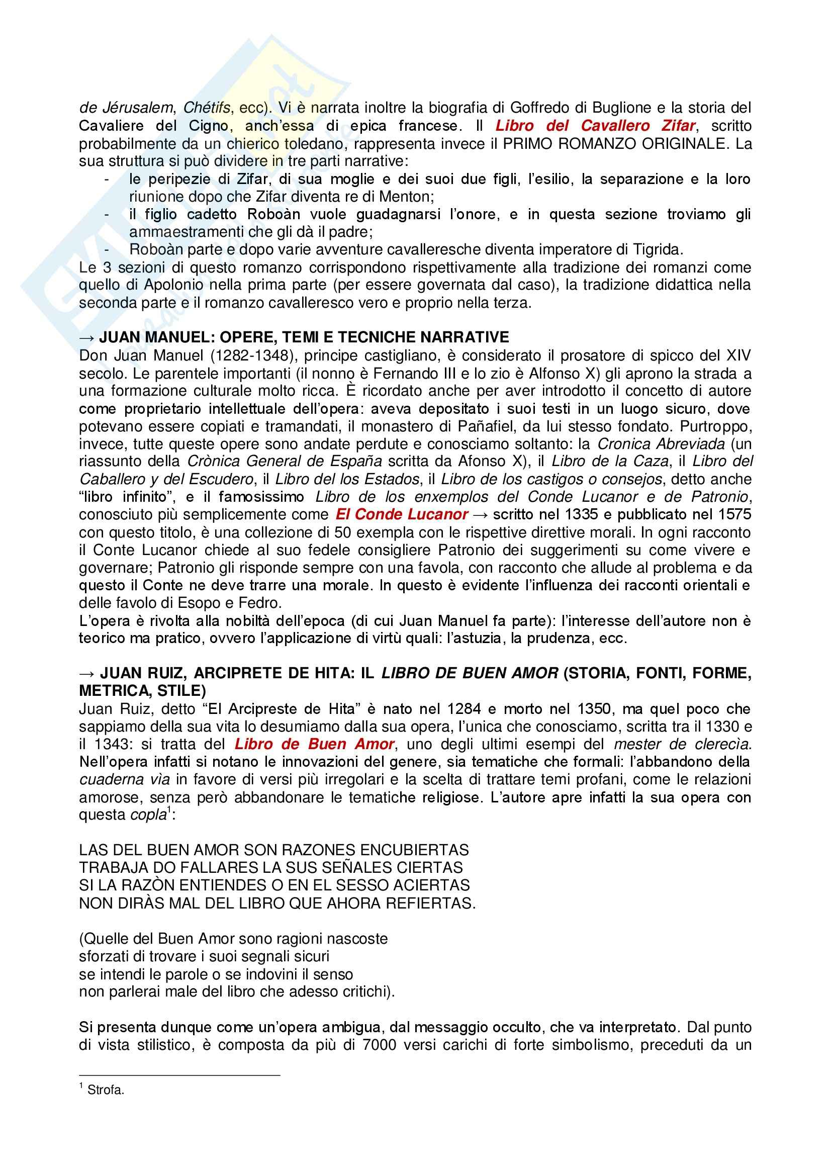 Riassunto esame Spagnolo, prof. Tomassetti, libro consigliato Dal Cid ai Re Cattolici, Varvaro, Samonà Pag. 6