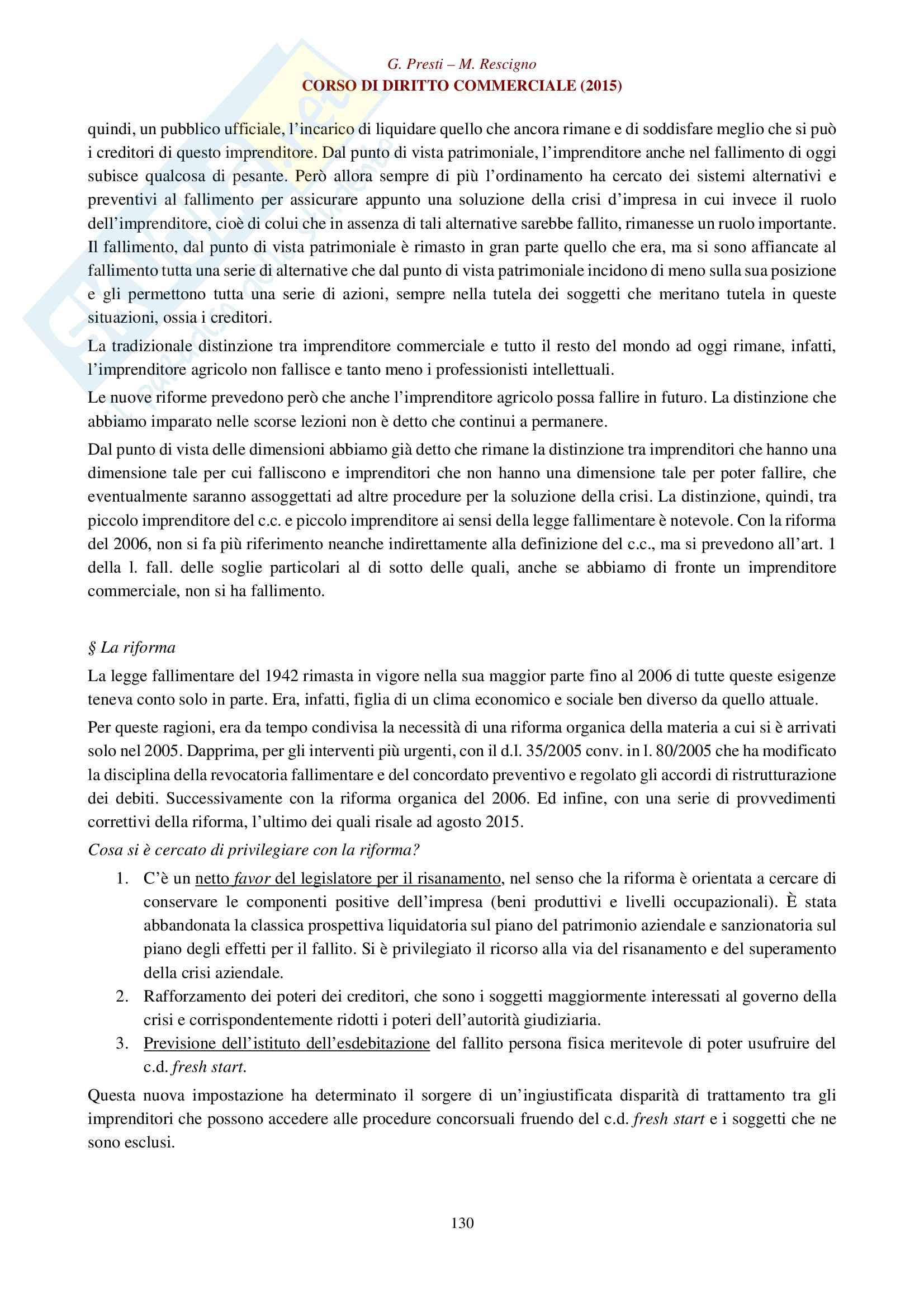 Appunti per esame di diritto commerciale La legge fallimentare Pag. 2