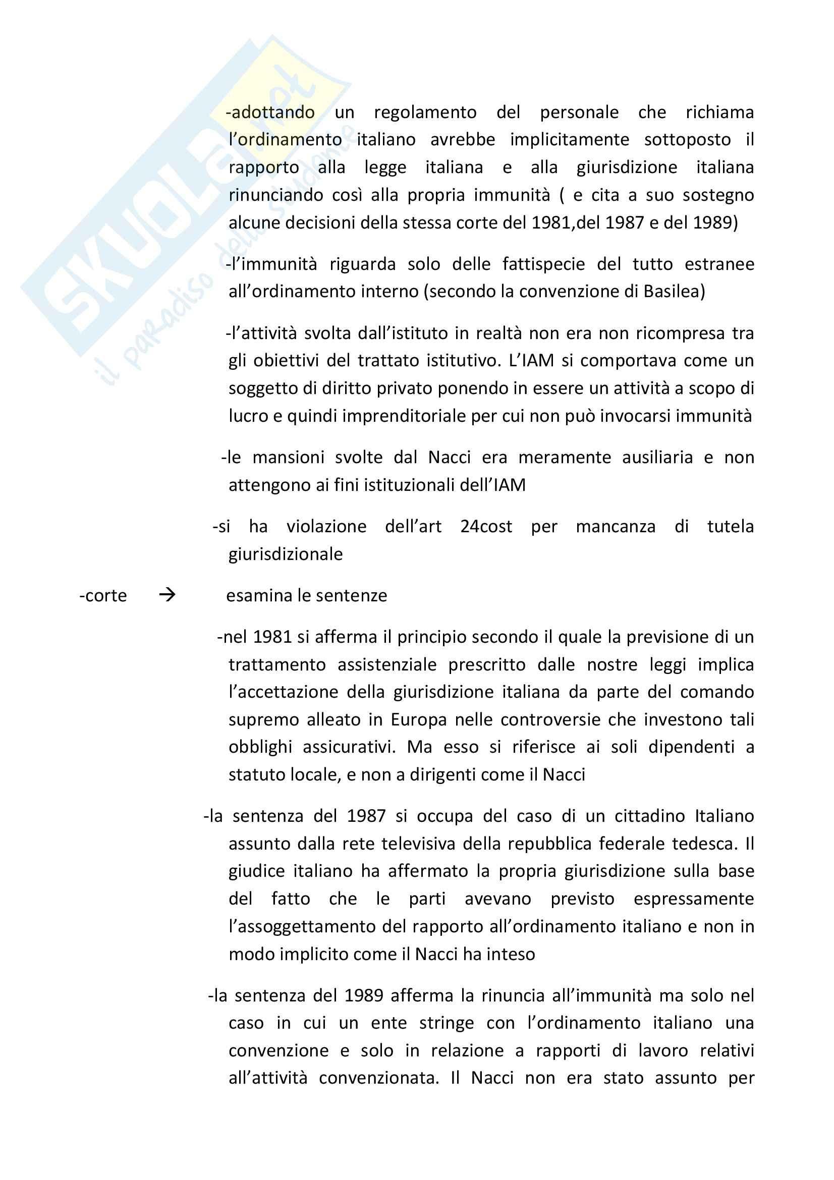 Diritto Internazionale – Casi materiali Pag. 11