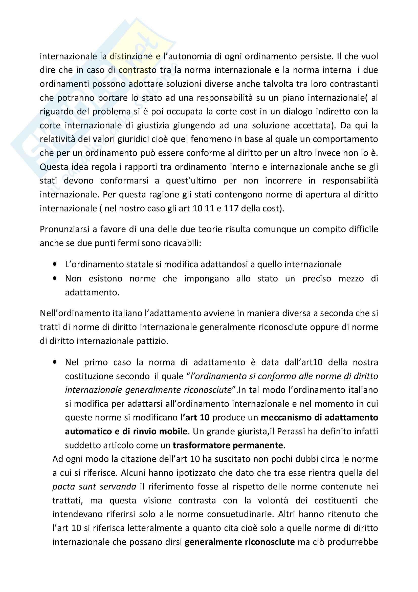 Diritto Internazionale – Casi materiali Pag. 31
