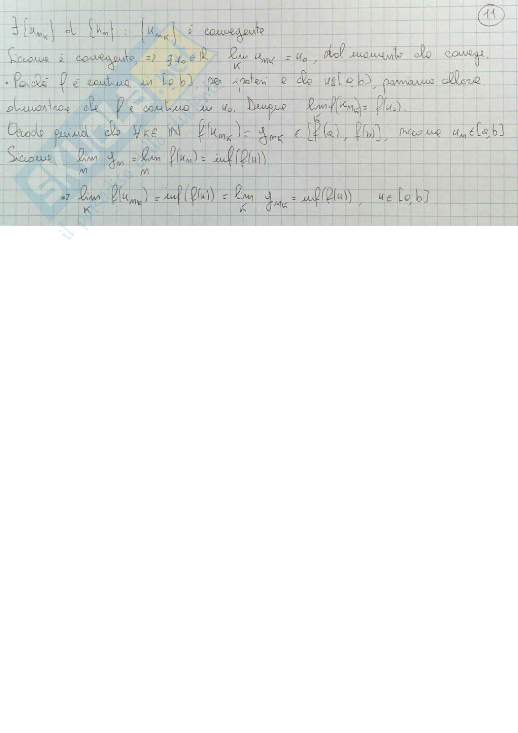 Definizioni e teoremi principali Analisi Matematica 1 Pag. 11