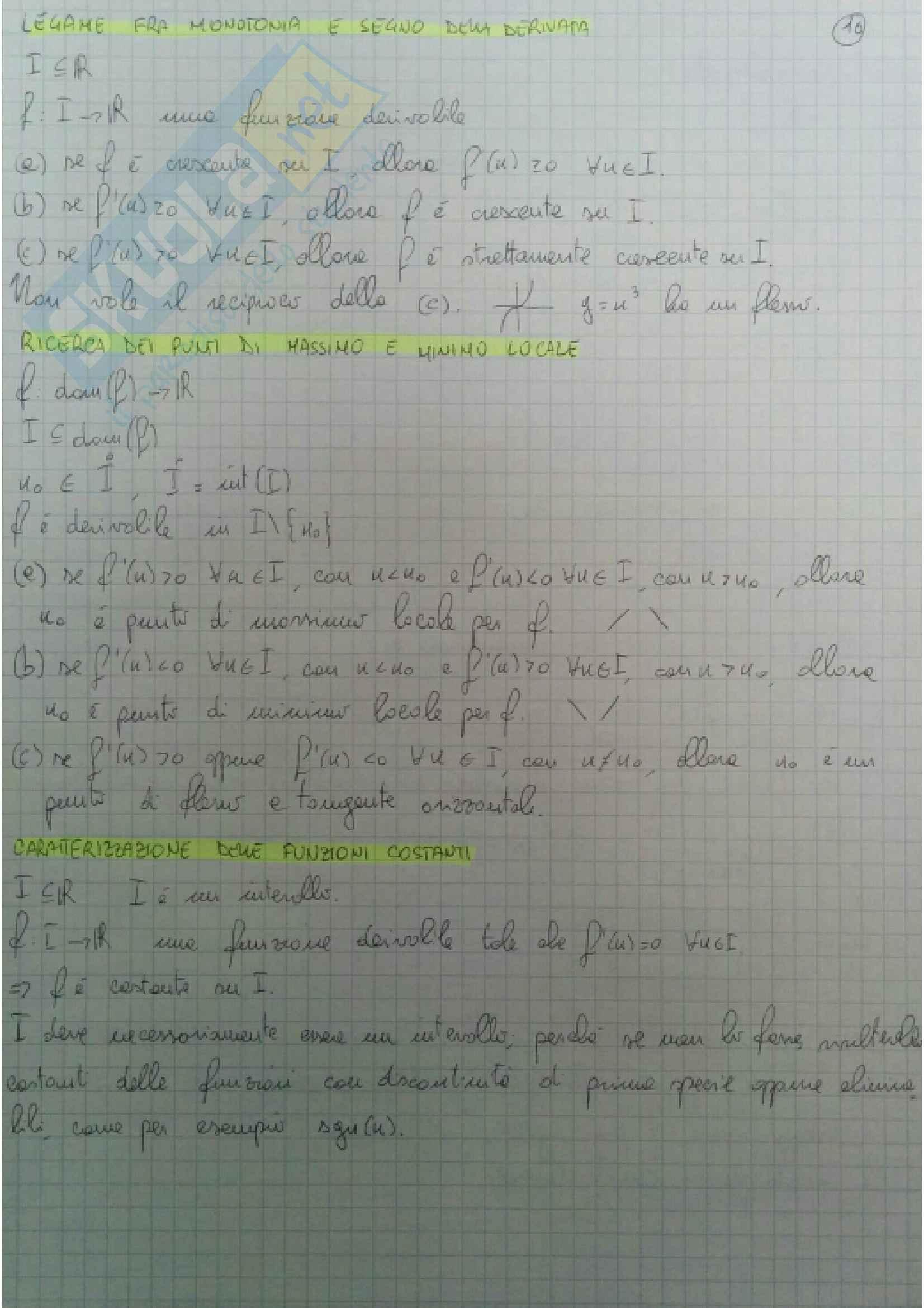 Definizioni e teoremi principali Analisi Matematica 1 Pag. 16