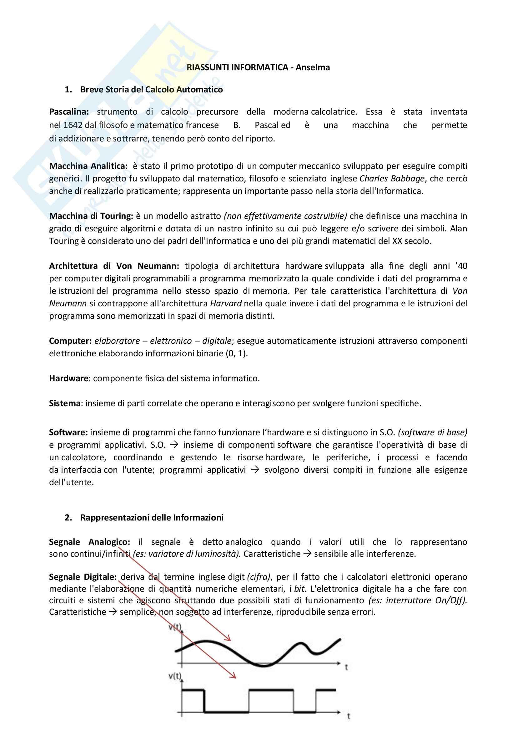 Informatica - Appunti