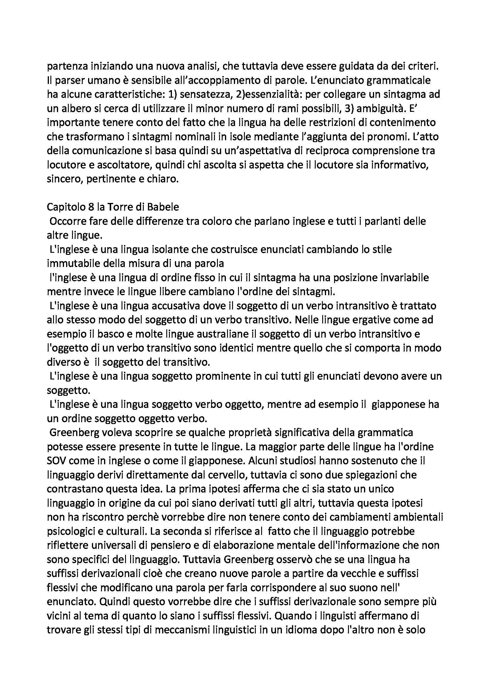Riassunto esame Logica e Filosofia della Scienza, prof. Laudisa, libro consigliato L'Istinto del Linguaggio, Pinker Pag. 16