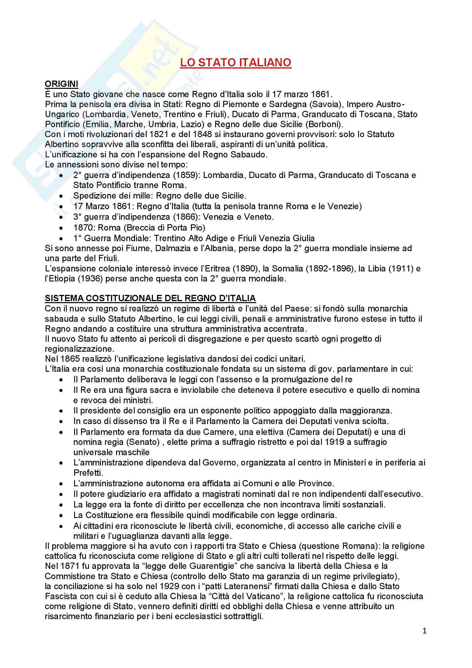 Riassunto esame Diritto Costituzionale, prof. Ferri, libro consigliato Compendio di Diritto Costituzionale,Onida e Pedrazza Gorlero