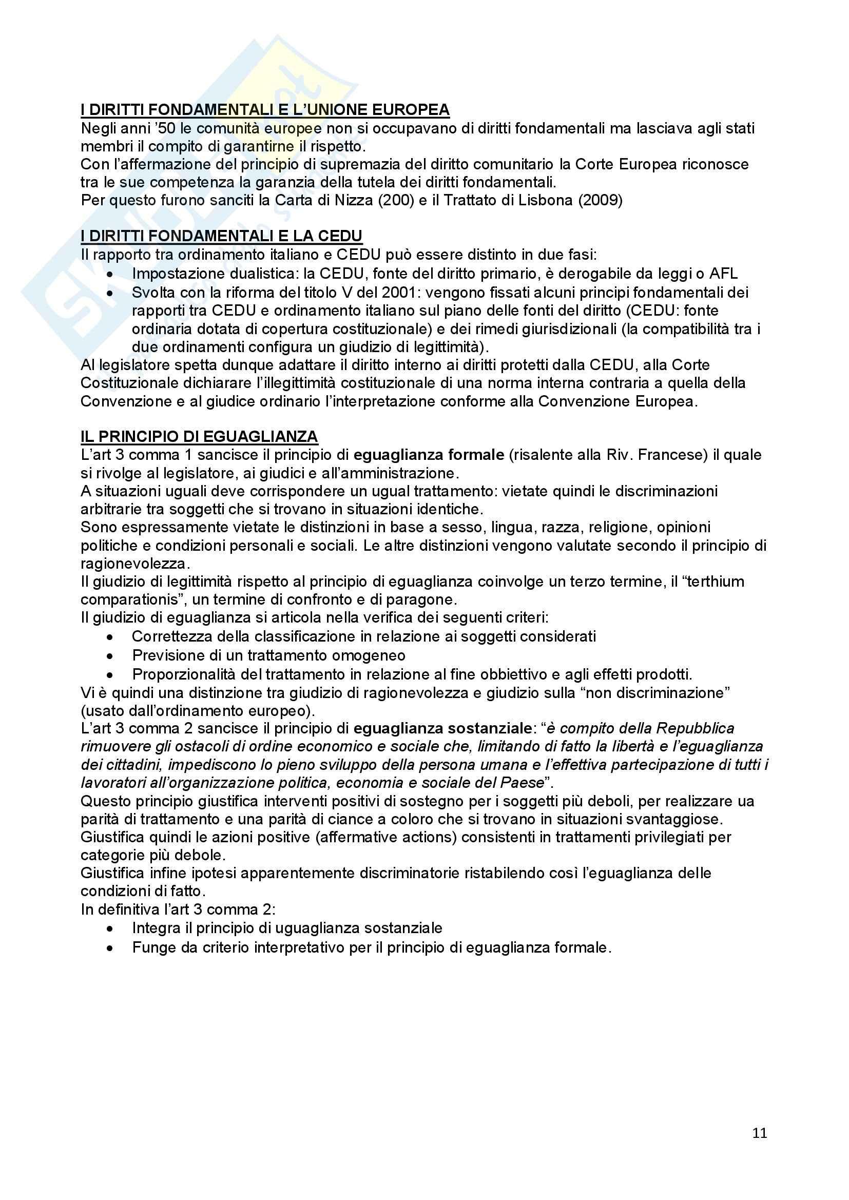 Riassunto esame Diritto Costituzionale, prof. Ferri, libro consigliato Compendio di Diritto Costituzionale,Onida e Pedrazza Gorlero Pag. 11