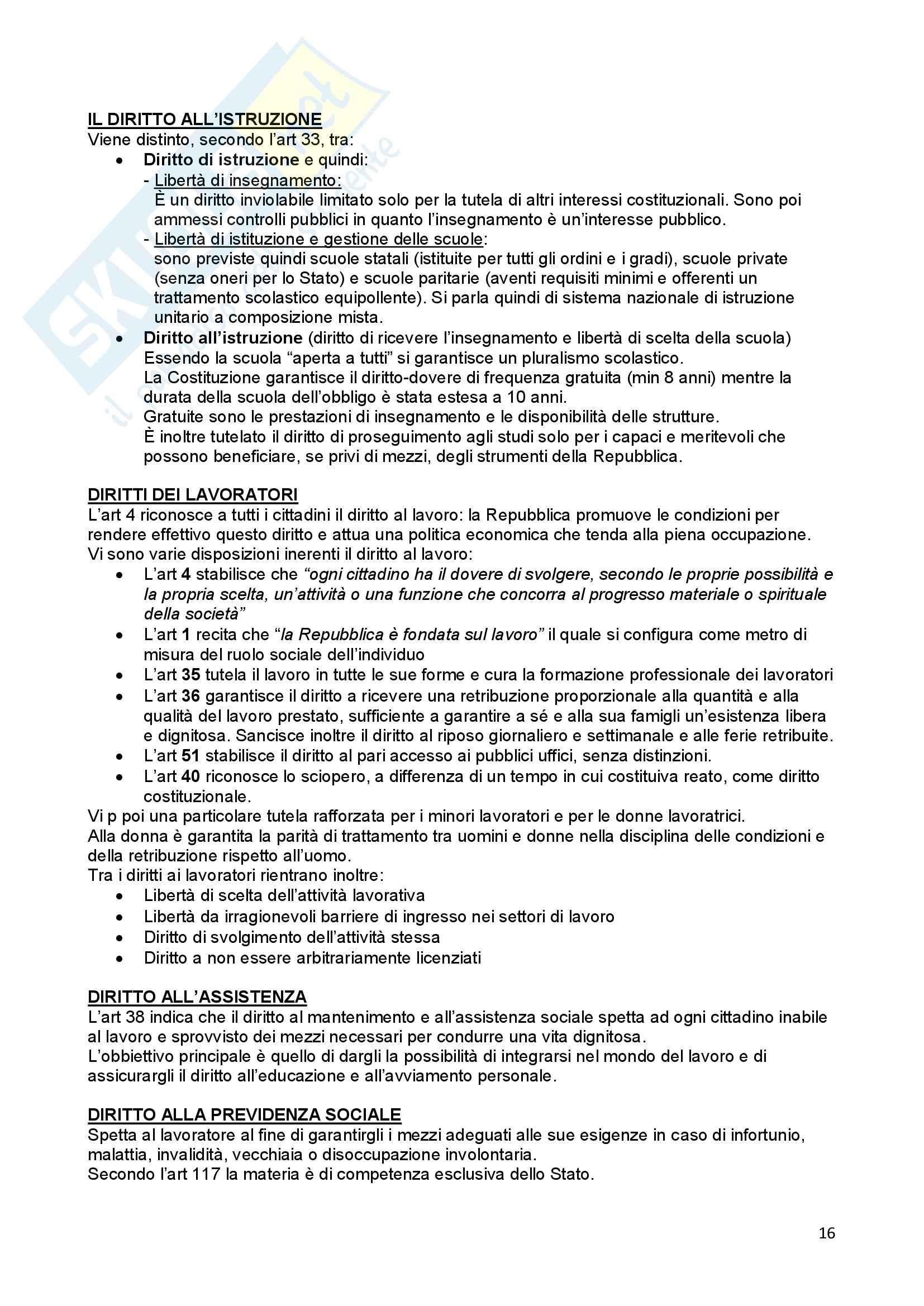 Riassunto esame Diritto Costituzionale, prof. Ferri, libro consigliato Compendio di Diritto Costituzionale,Onida e Pedrazza Gorlero Pag. 16