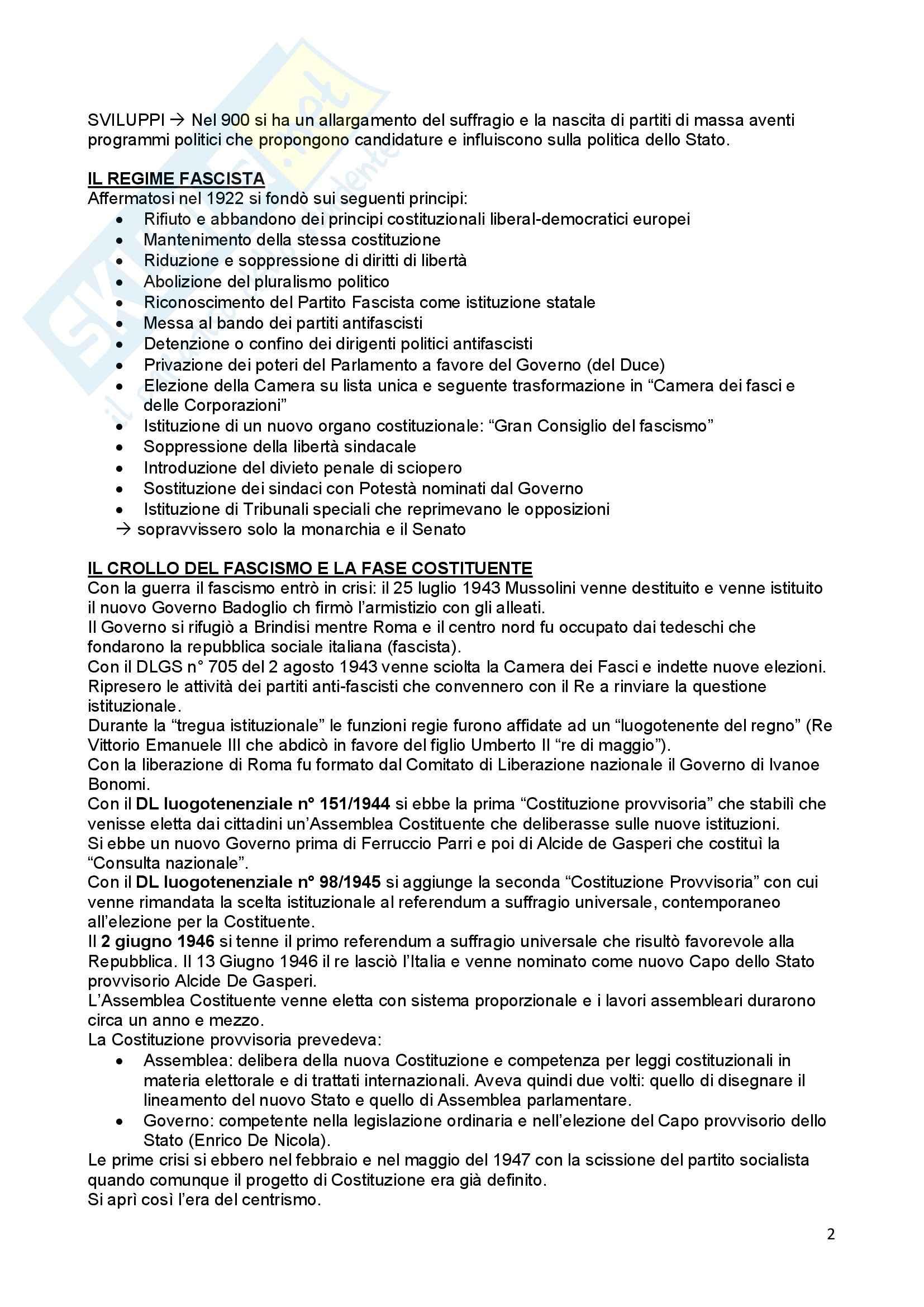 Riassunto esame Diritto Costituzionale, prof. Ferri, libro consigliato Compendio di Diritto Costituzionale,Onida e Pedrazza Gorlero Pag. 2