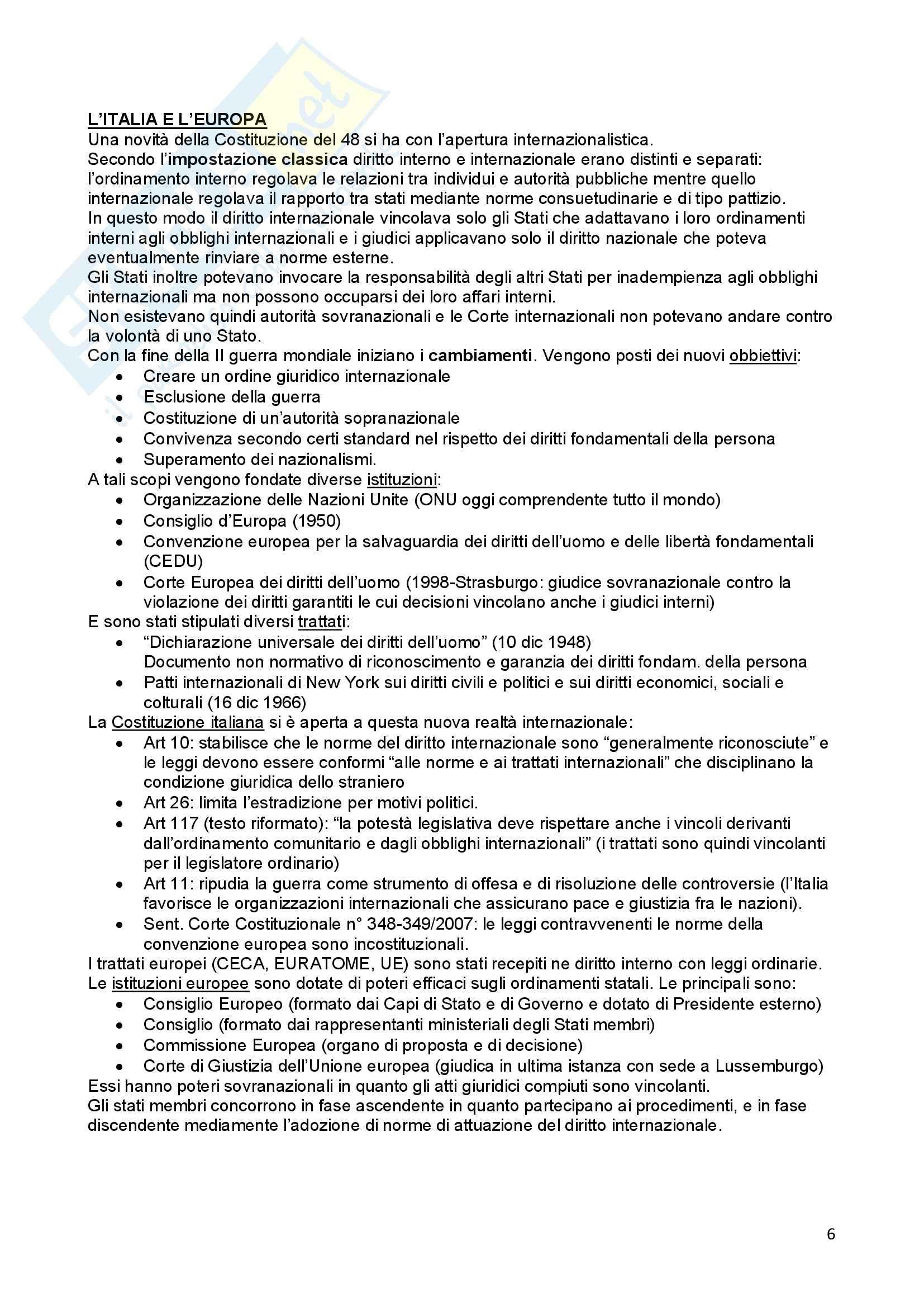 Riassunto esame Diritto Costituzionale, prof. Ferri, libro consigliato Compendio di Diritto Costituzionale,Onida e Pedrazza Gorlero Pag. 6