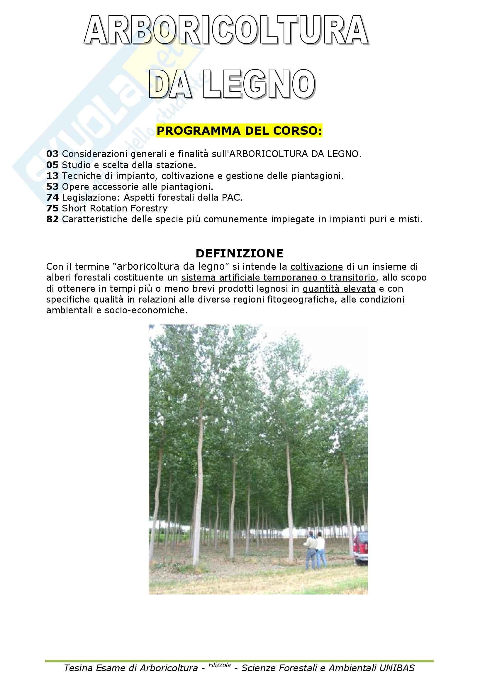Selvicoltura - Arboricoltura