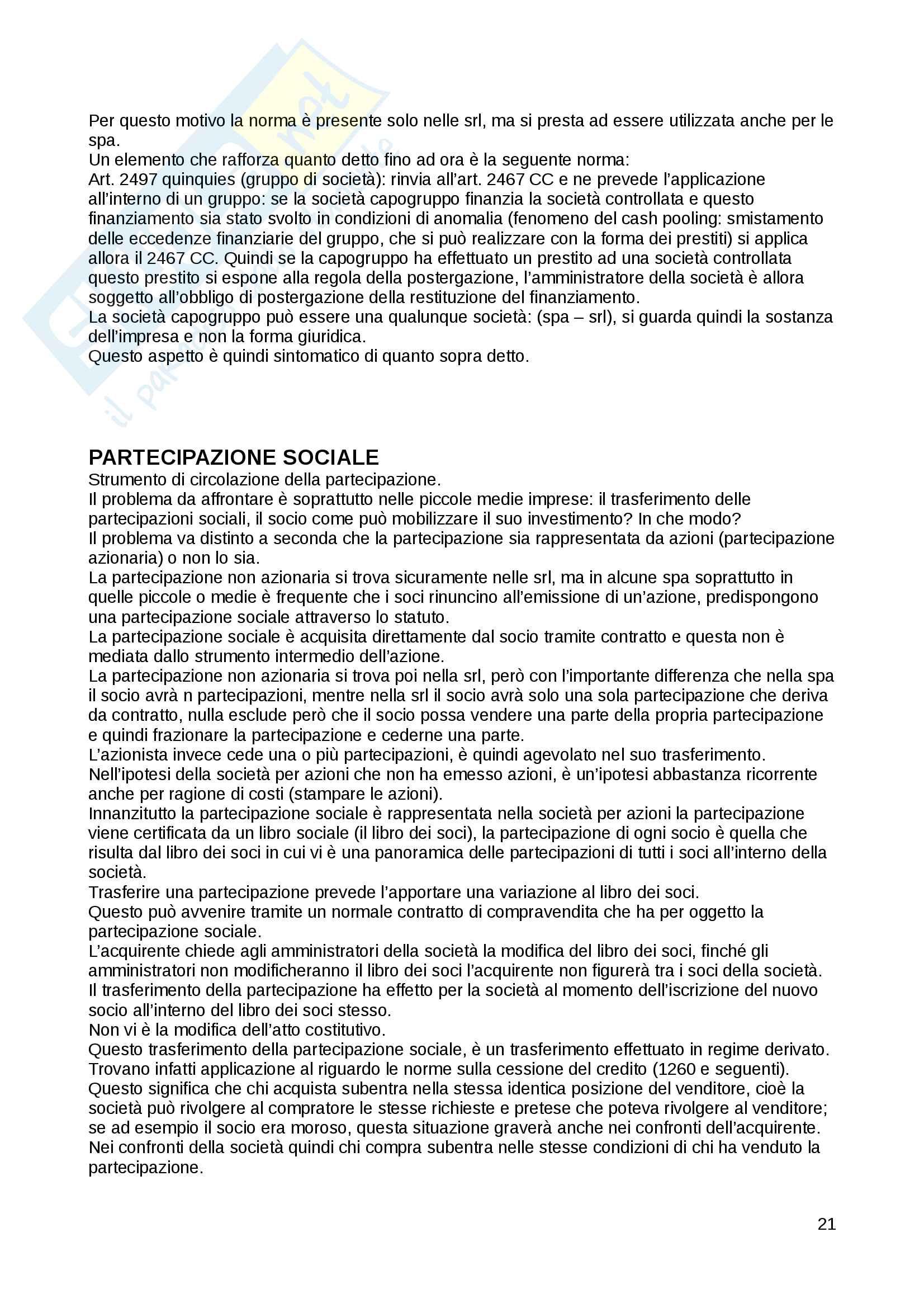 Appunti di diritto delle società validi per il superamento dell'esame con Cetra Pag. 21