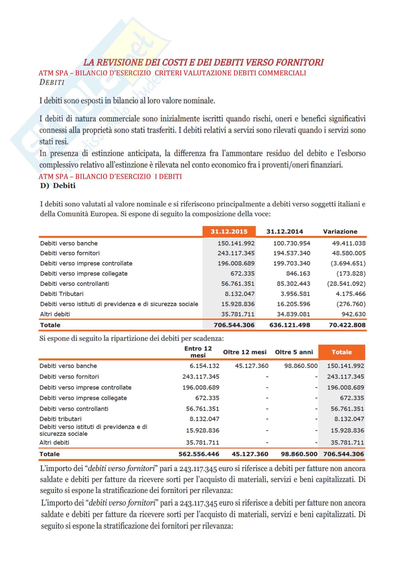 Revisione aziendale e controllo dei conti