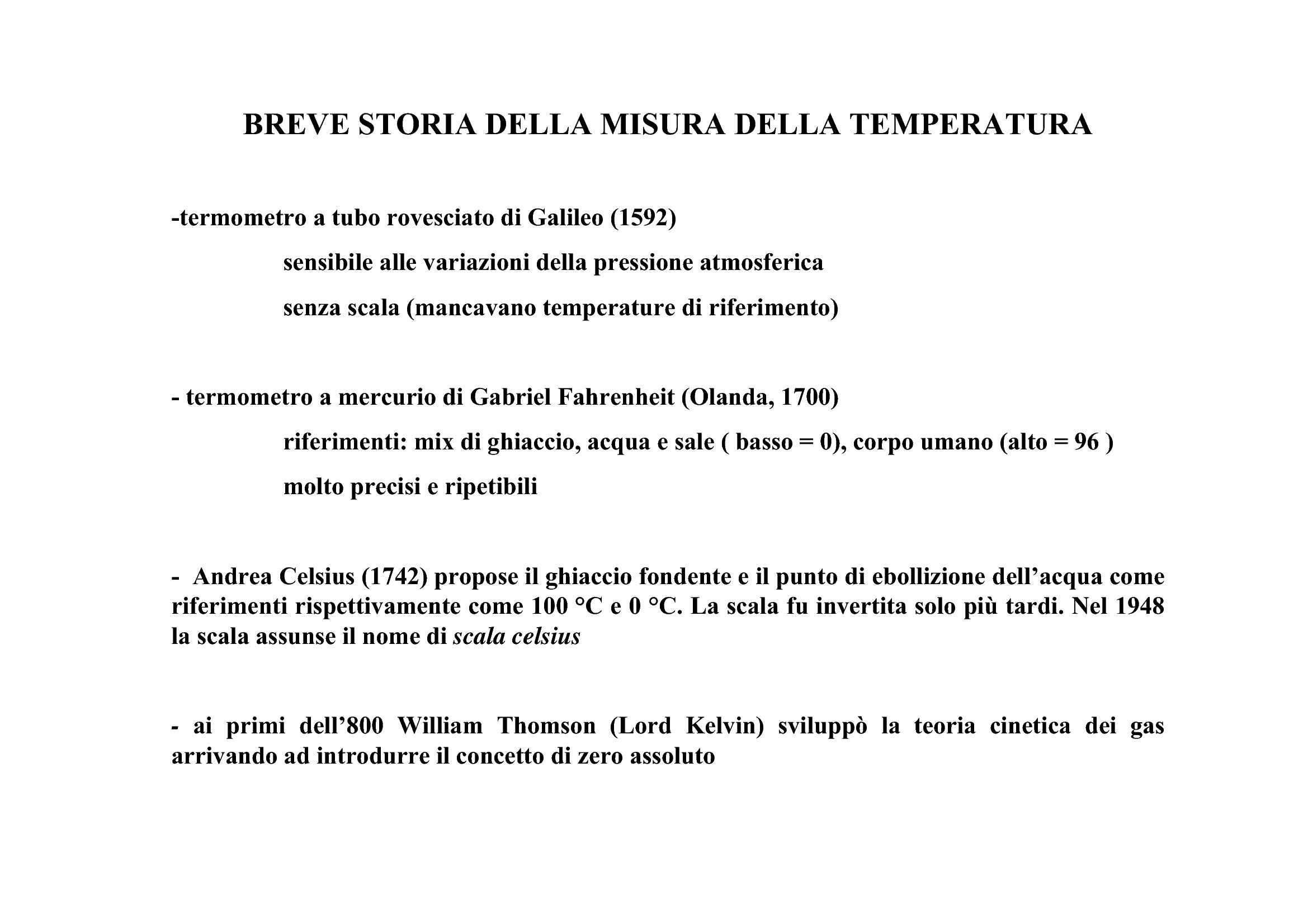 Storia della misura della temperatura